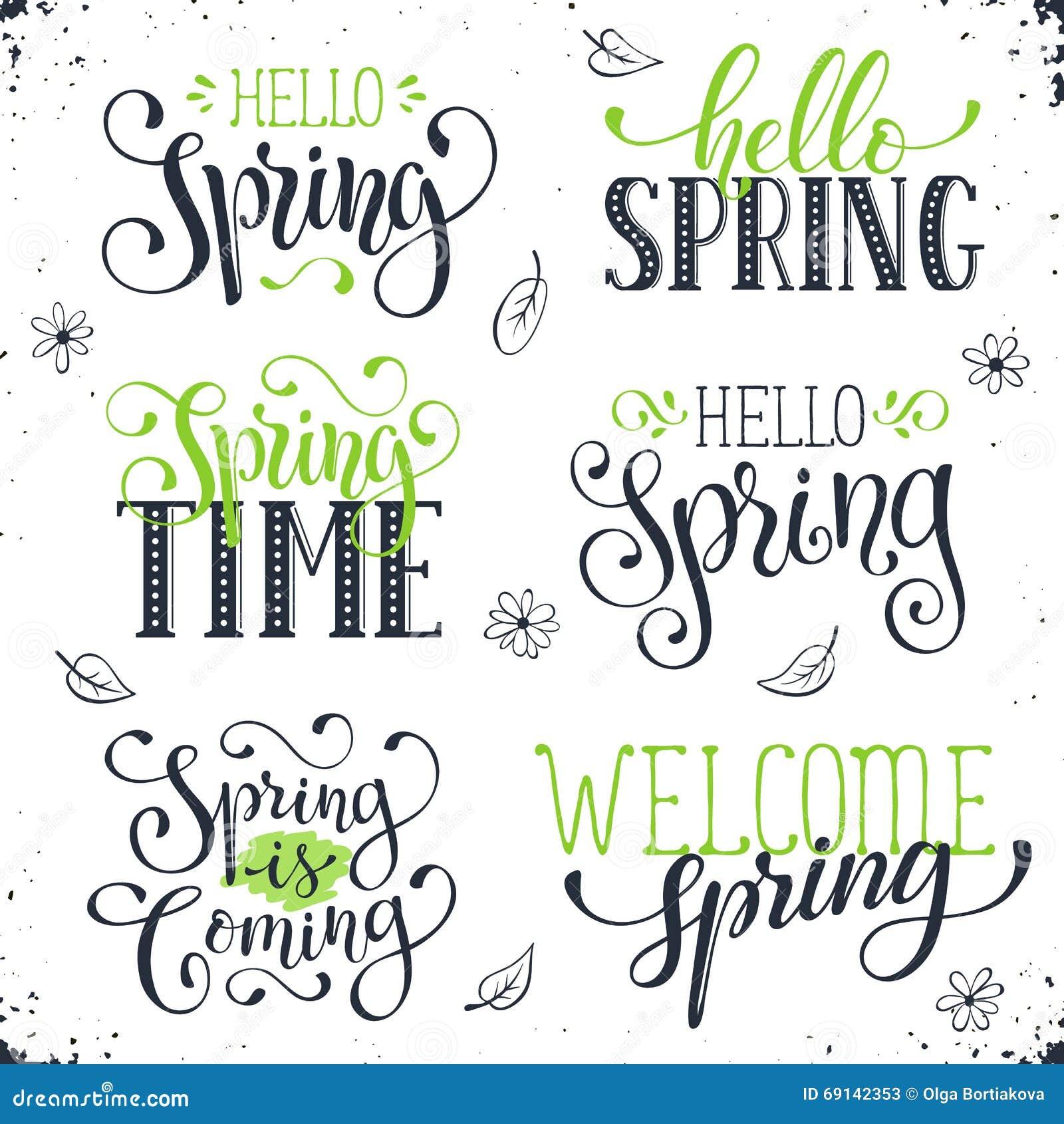 Spring time wording