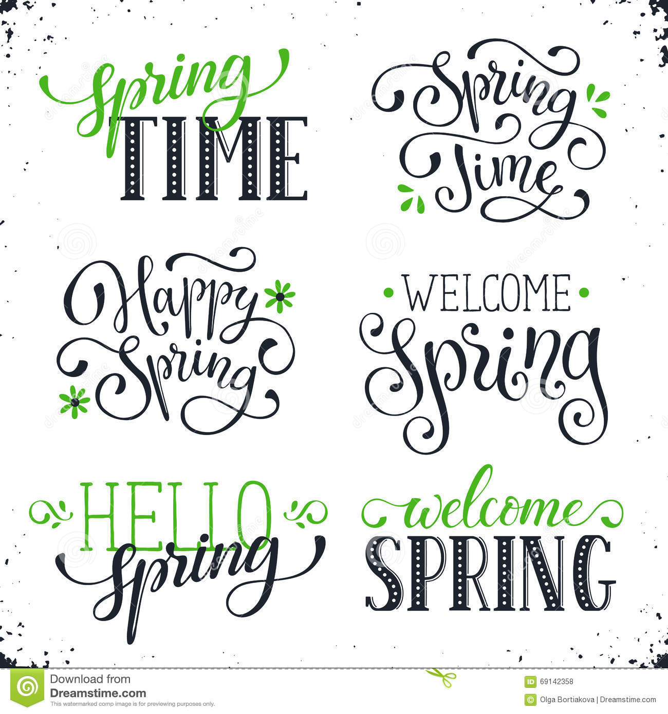 spring time wording stock vector illustration of phrase 69142358