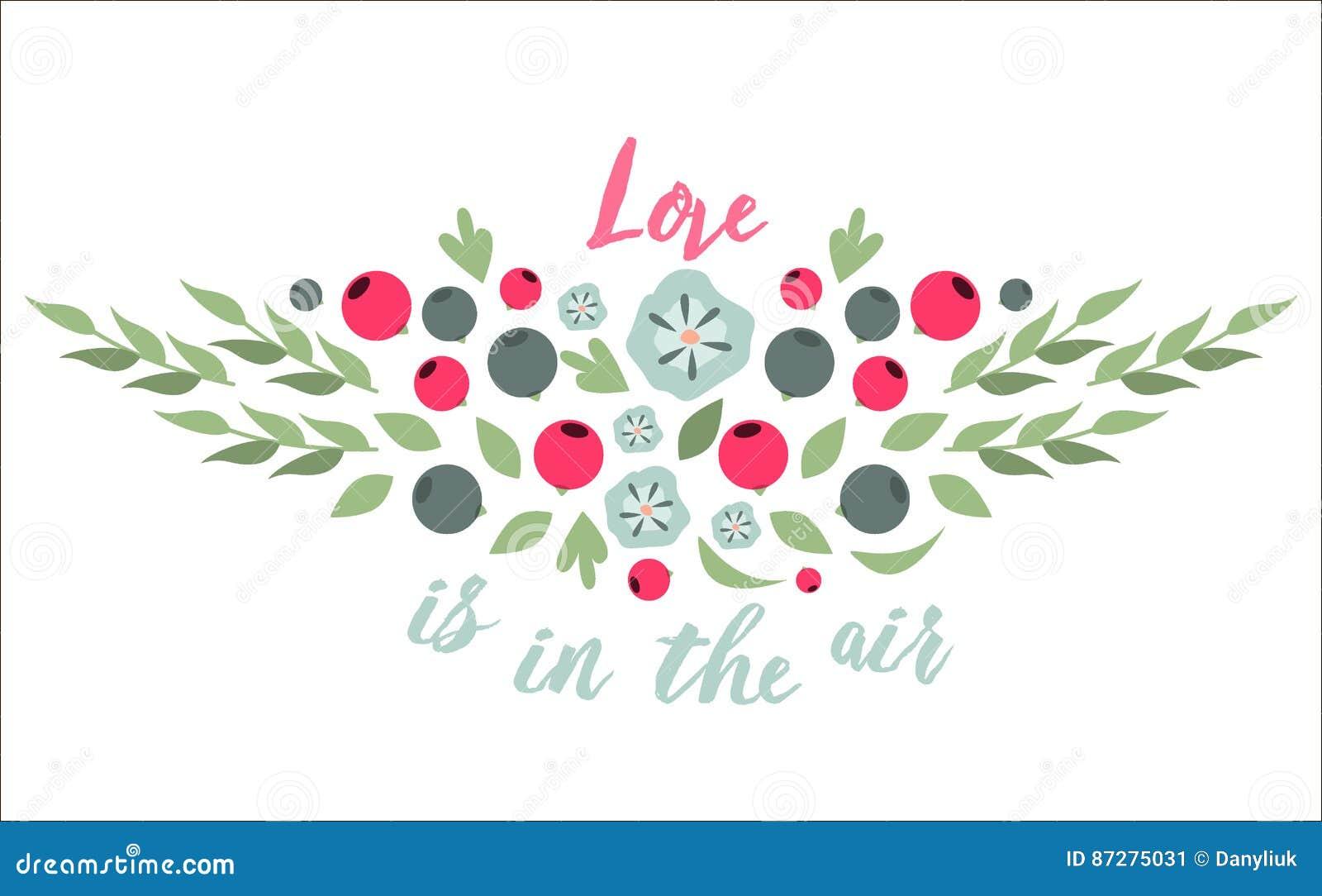 Spring Typographic Flower Badge Design Vector Illustration Stock