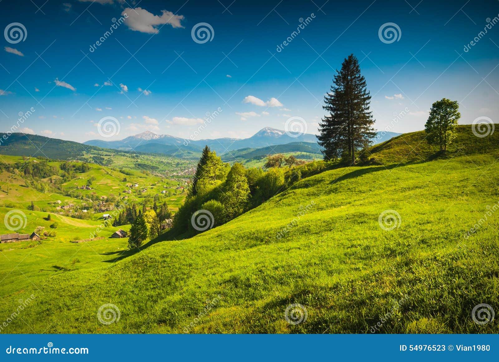 Spring Valley med höga berg