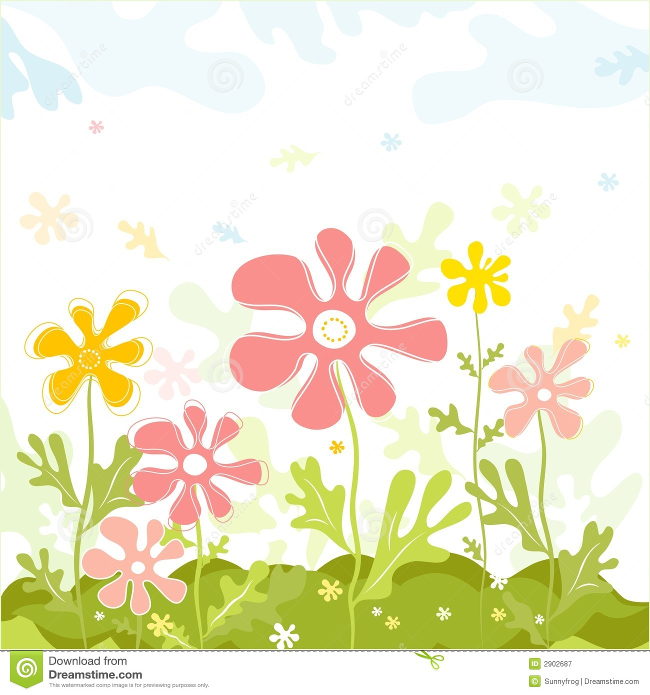 Spring vector flowers stock vector illustration of pink 2902687 spring vector flowers mightylinksfo