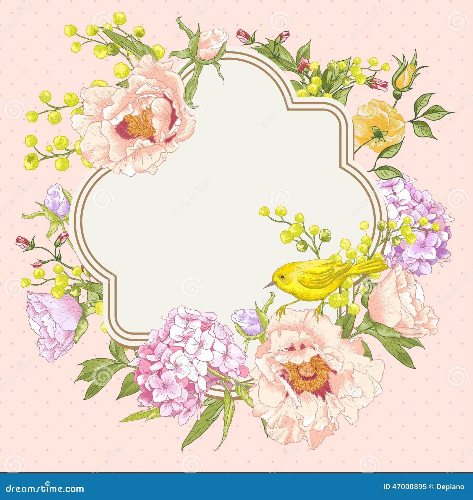 spring vintage floral bouquet with birds stock vector hydrangea clip art no background hydrangea clip art b&w