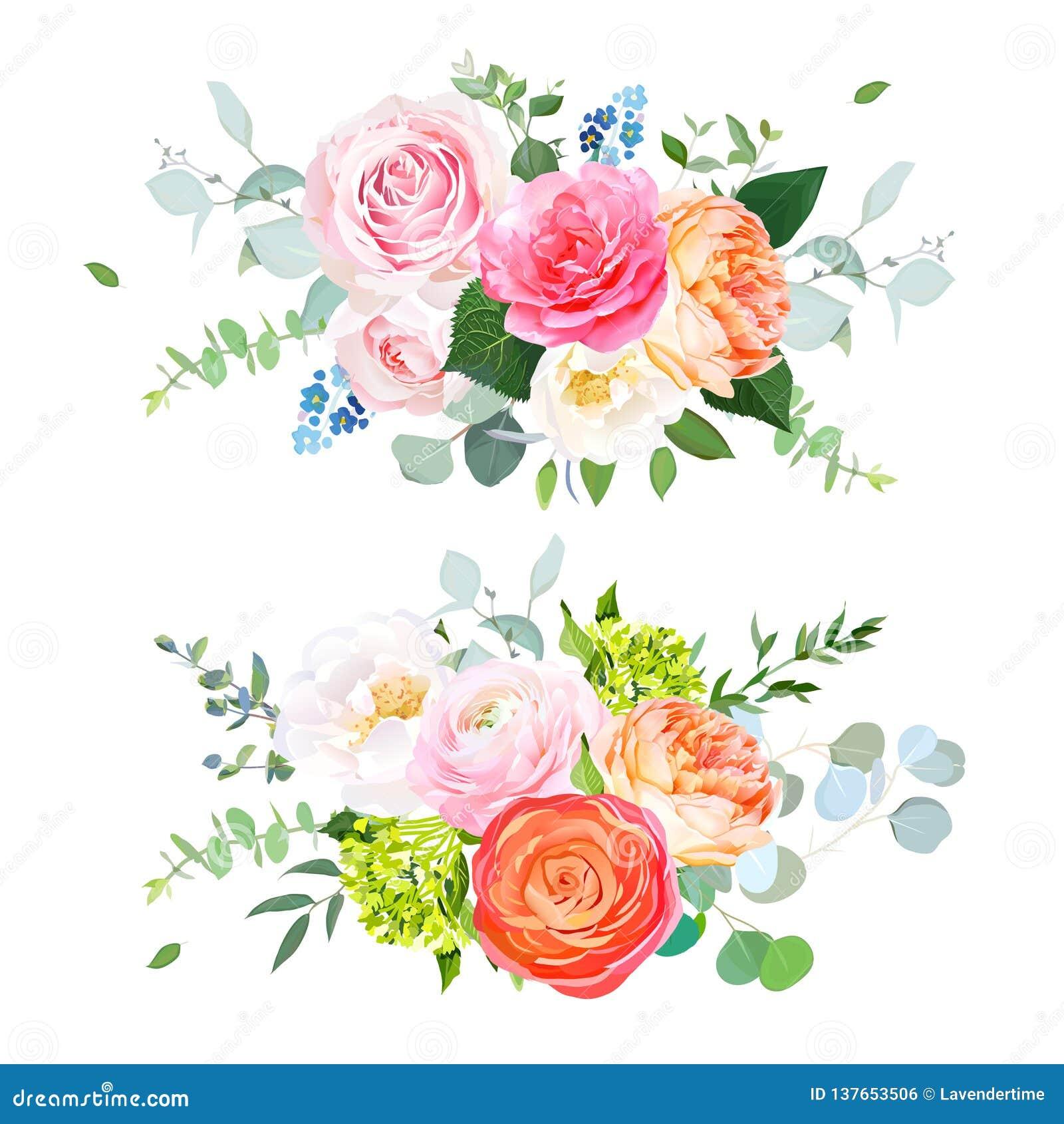 Spring Wedding Flowers Floral Banner Stock Vector Illustration Of Blossom Rose 137653506