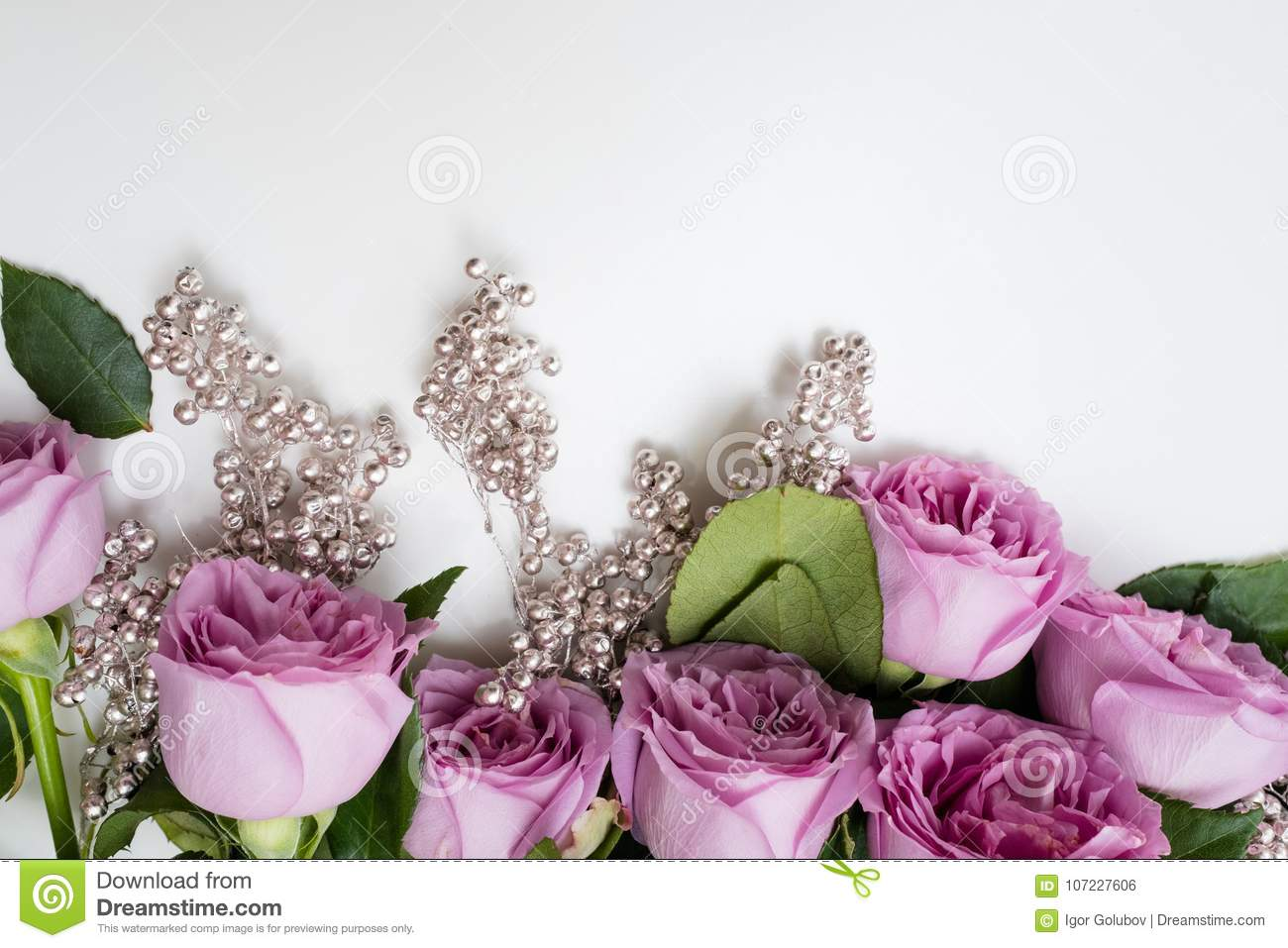Spring Wedding Flowers Pink Roses Arrangement Stock Photo Image Of