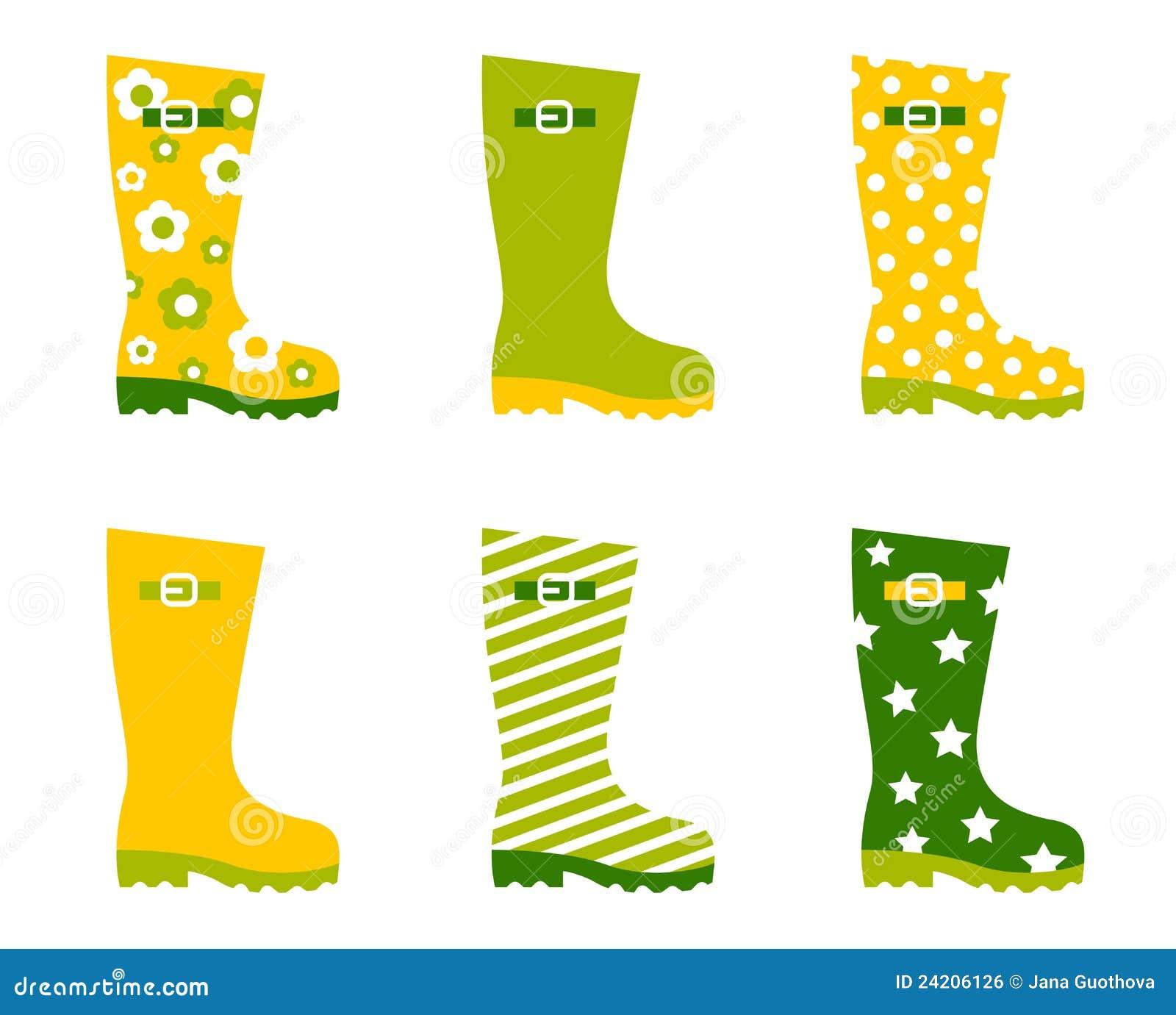 Spring Wellington Rain Boots Set Royalty Free Stock Image - Image ...