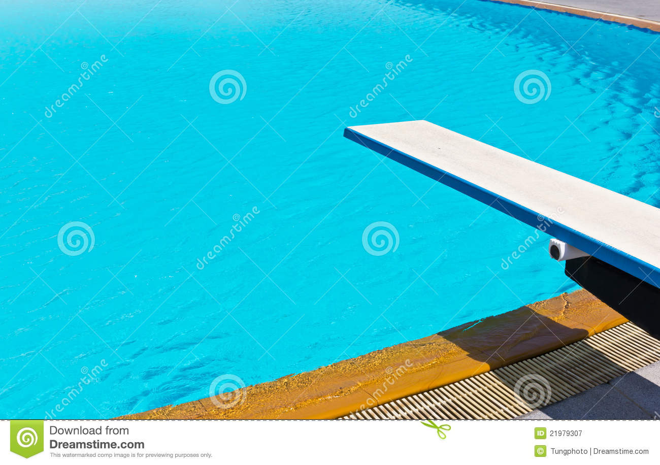 springboard on swimming pool royalty free stock photography image 21979307