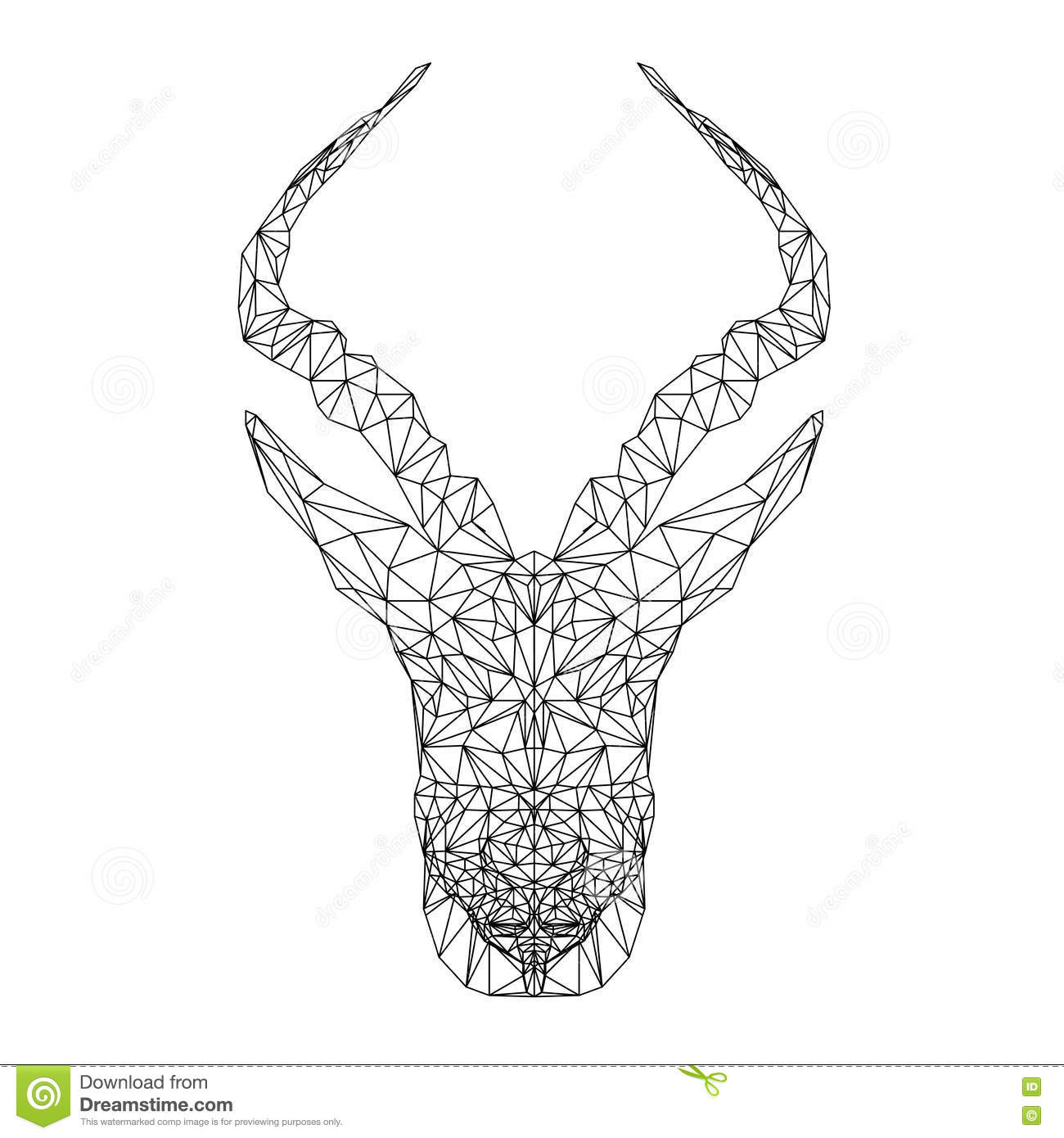 springbok african animal vector antelope illustration for tattoo coloring wallpaper and. Black Bedroom Furniture Sets. Home Design Ideas