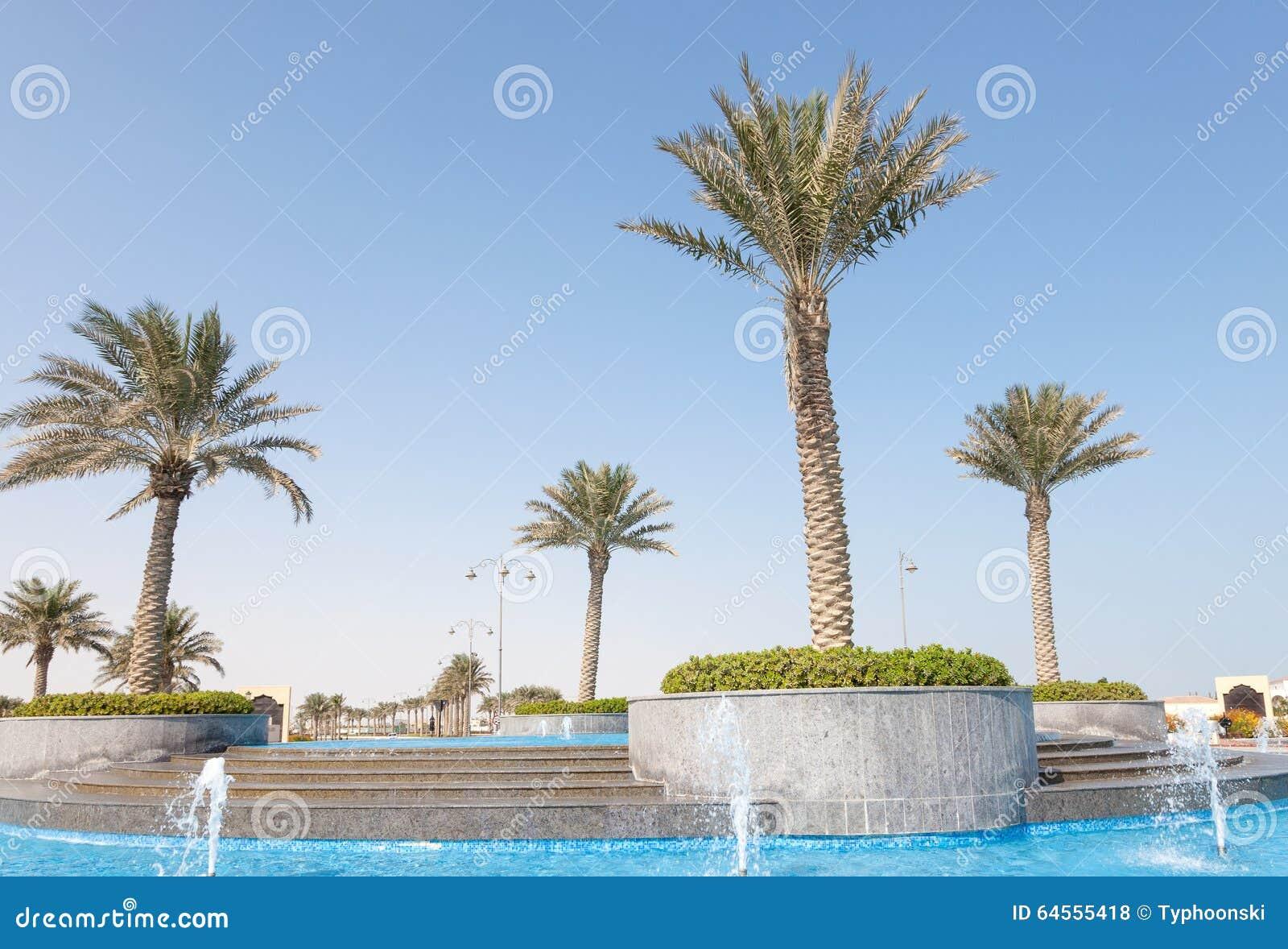 Springbrunn på pärlan, Qatar