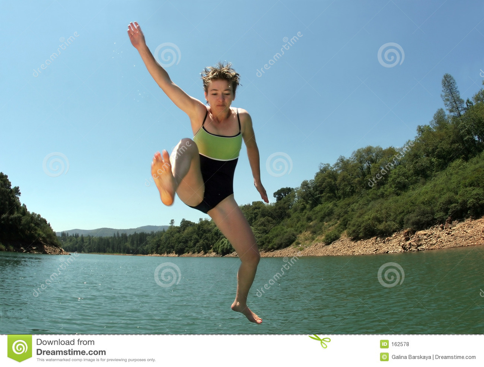 Springen in den See