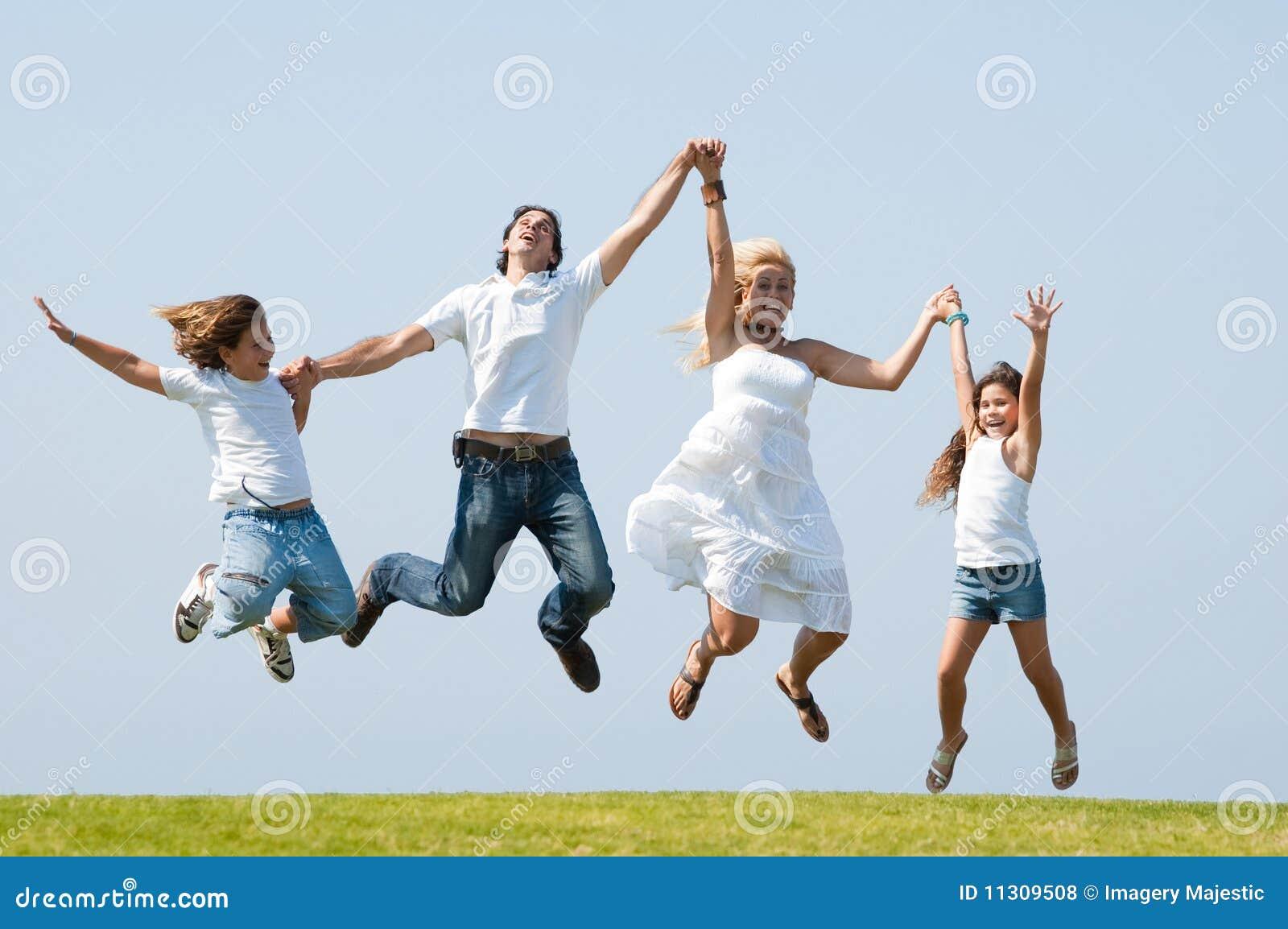 Springen der Freude
