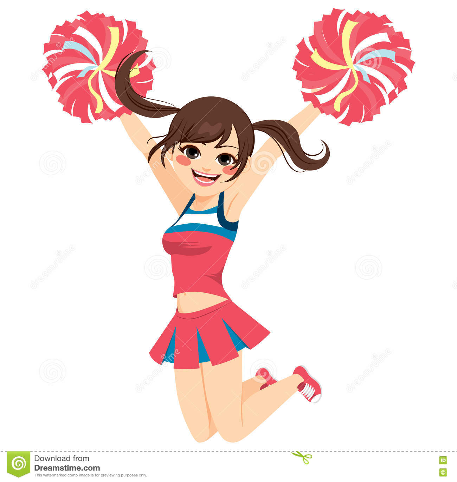 Springende Cheerleader Girl