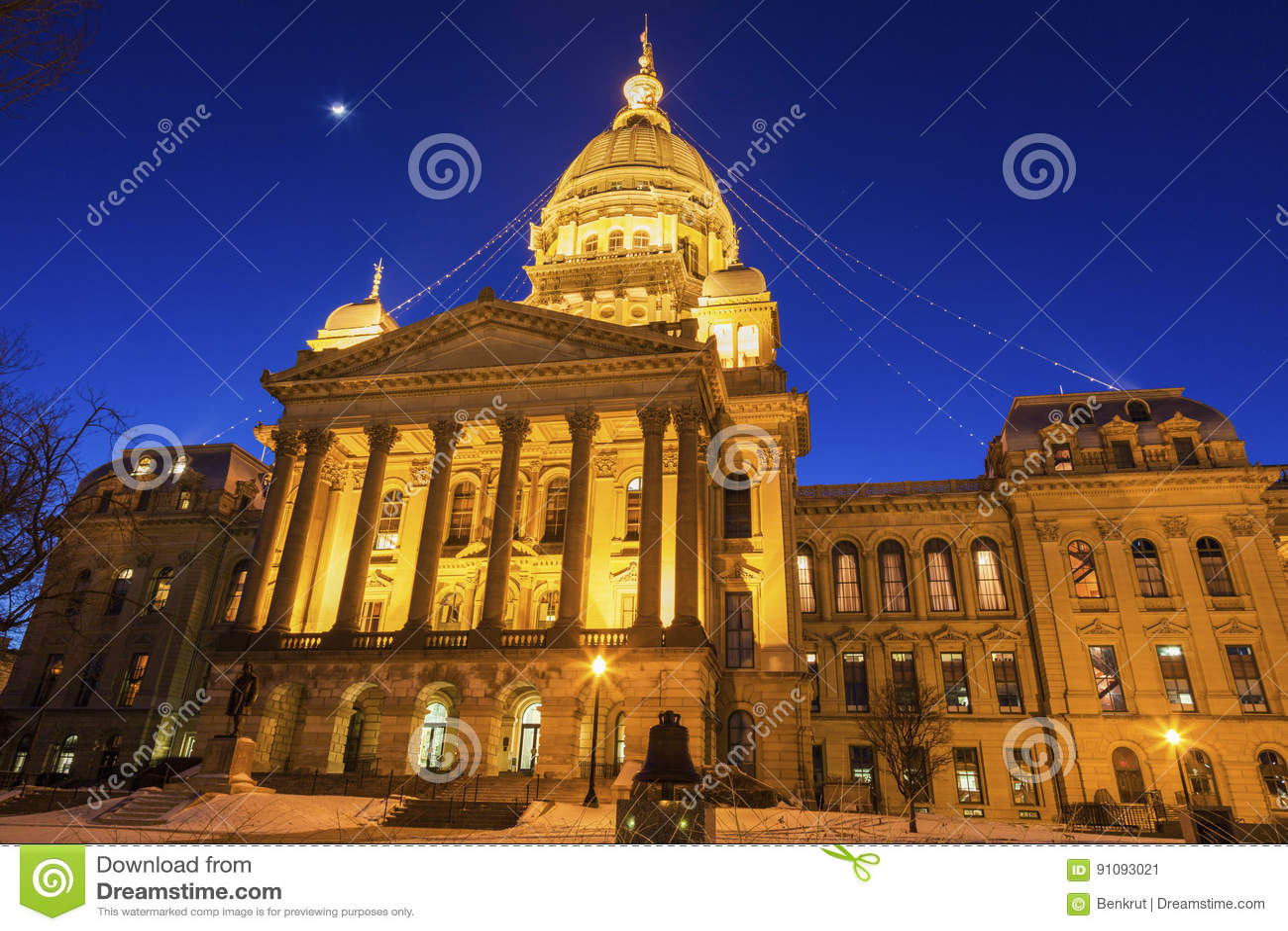 Springfield, Illinois - Stan Capitol Budynek