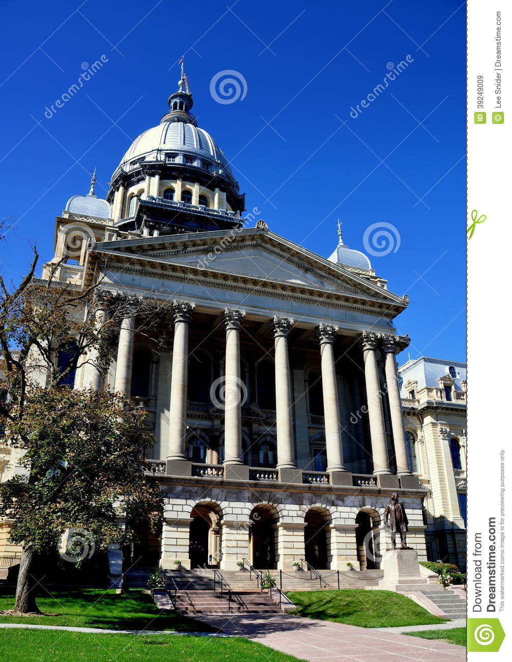 Car Dealerships Springfield Il >> Springfield, Illinois: State Capitol Building Stock Photo - Image: 39249009