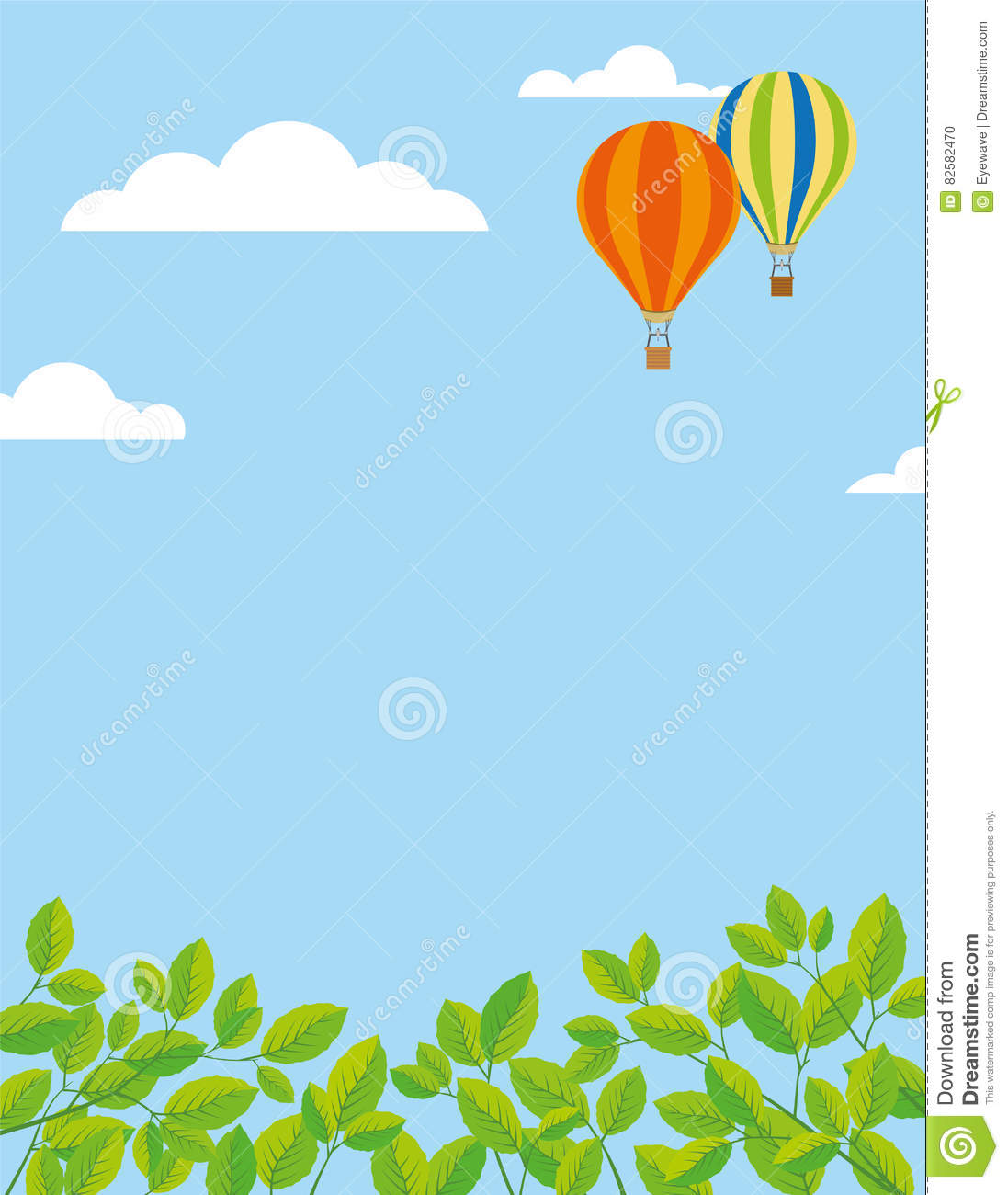 cute hot air balloon border pictures to pin on pinterest