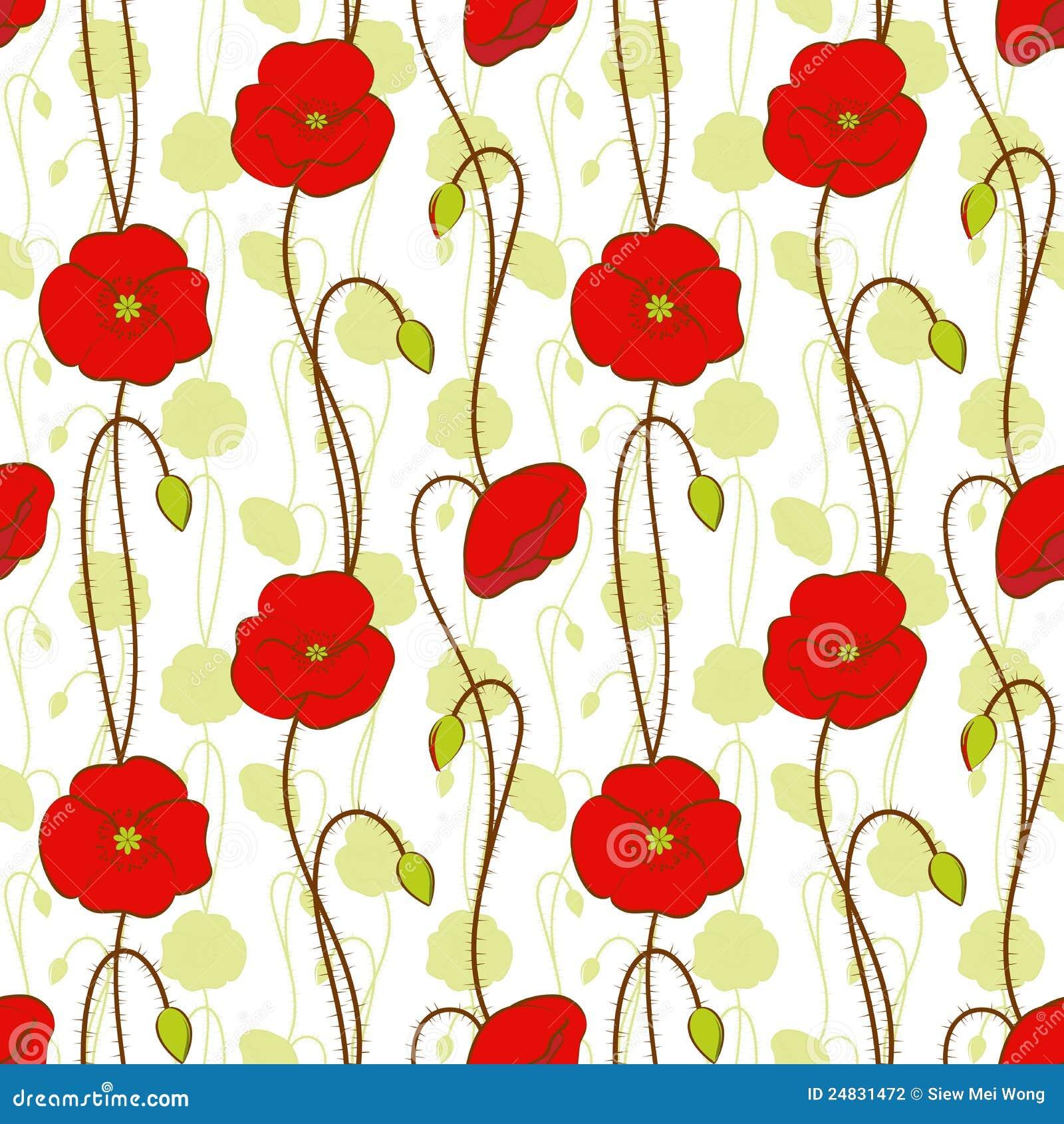 Happy spring Poppy flower stock vector. Illustration of fantasy ...
