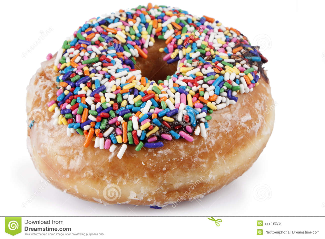 Sprinkled Donut Stock Image Image Of Orange Blue Round
