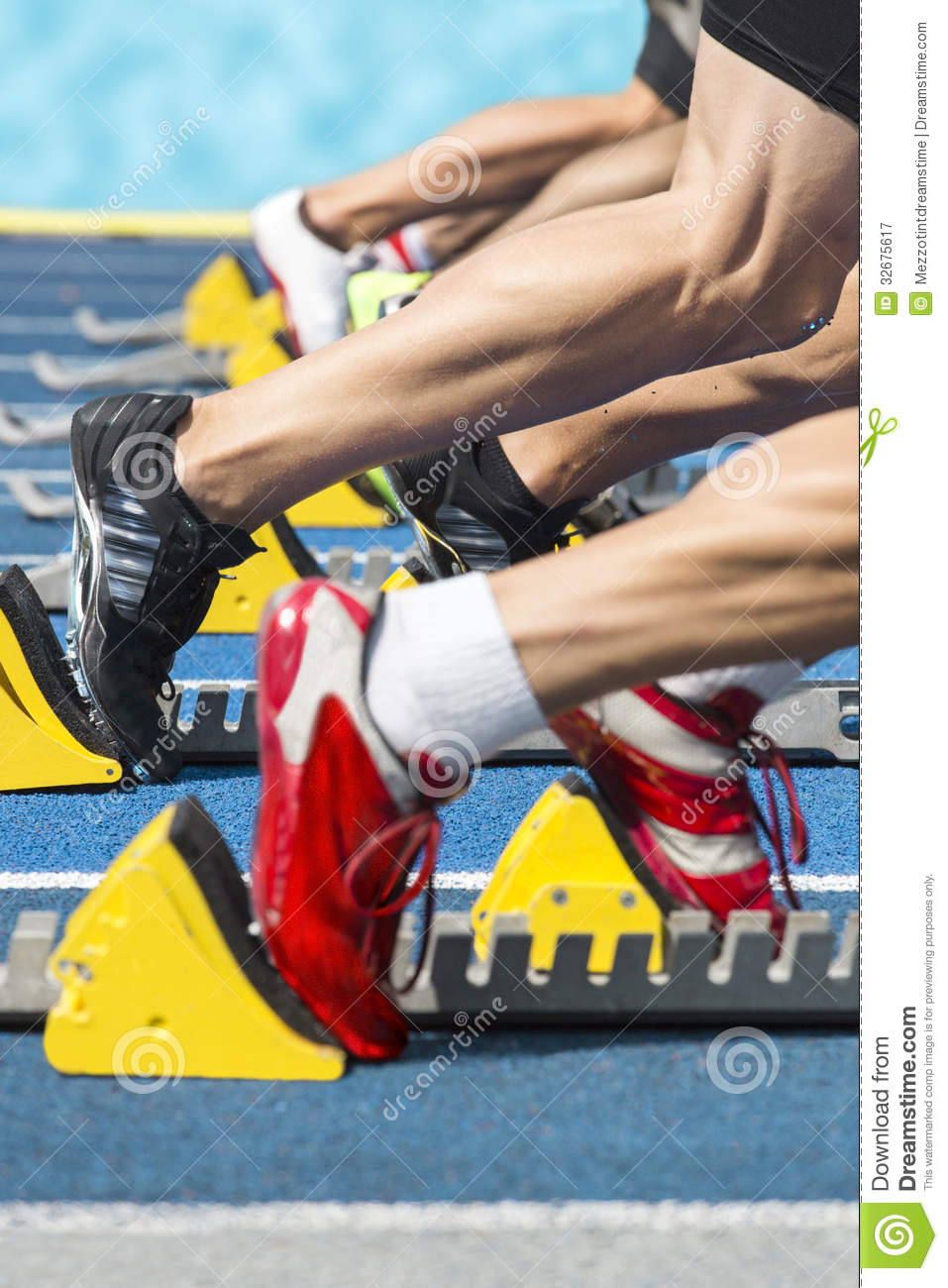 sprint action start royalty free stock photography image