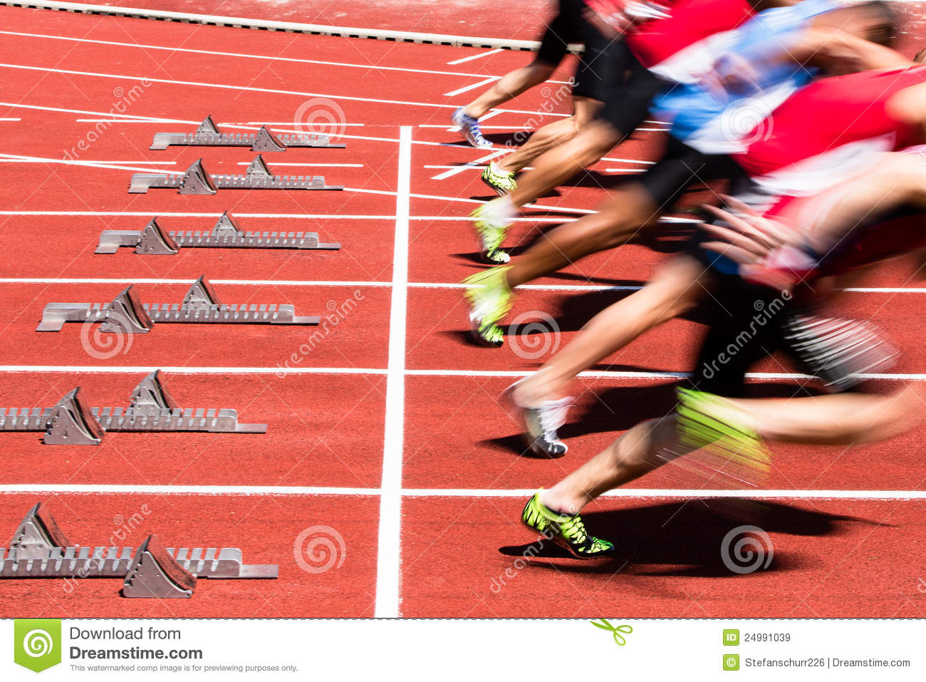 Sprint Start Royalty Free Stock Images - Image: 24991039