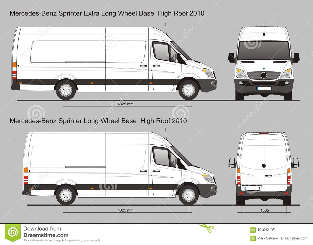 Mercedes Sprinter Van LWB and Extra LWB