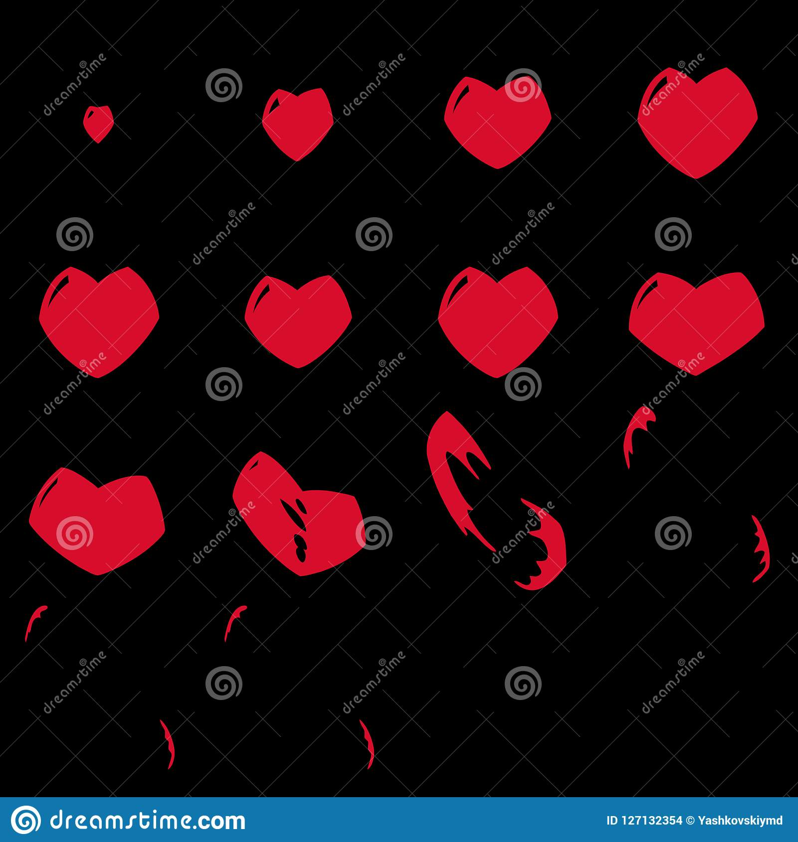 Game Of Love Sheets sprite sheets heart. ready for games or cartoon. stock