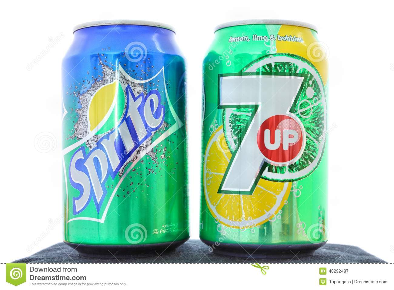 20, 2010: Sprite and 7 Up canned soft drinks together. These drinks ...