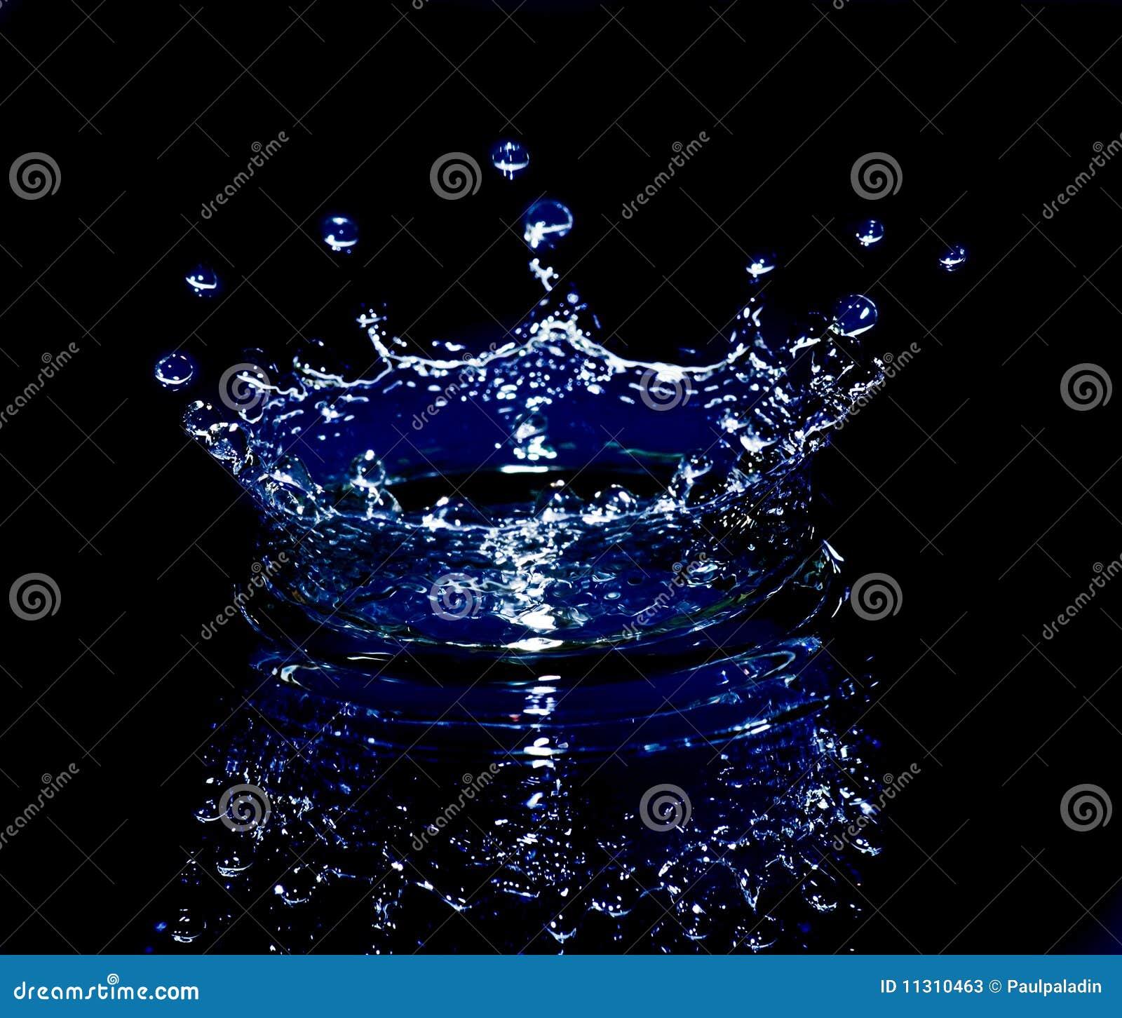 Spritzen des Wassers