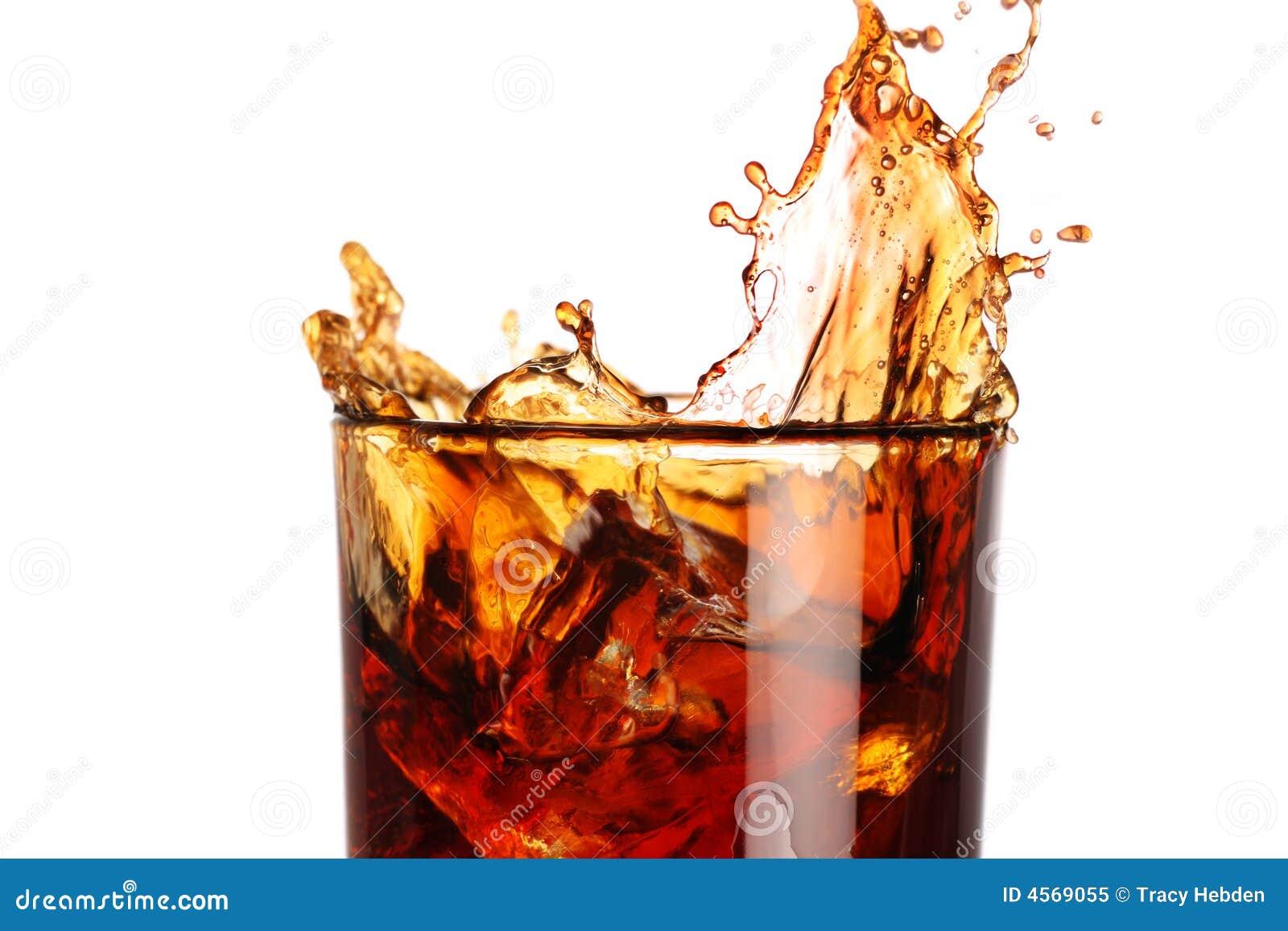 Spritzen in einem Glas