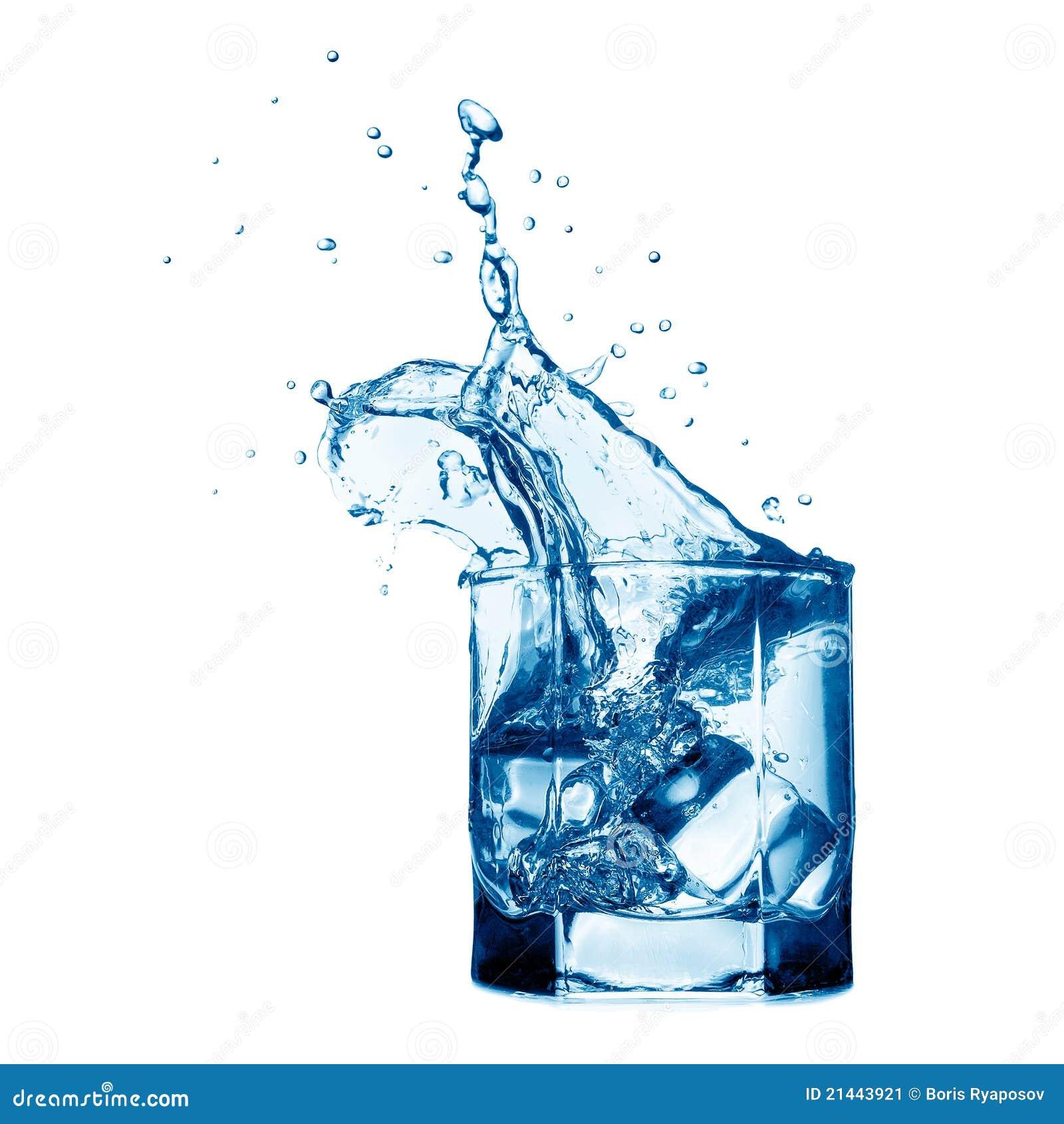 Spritzen im Glas