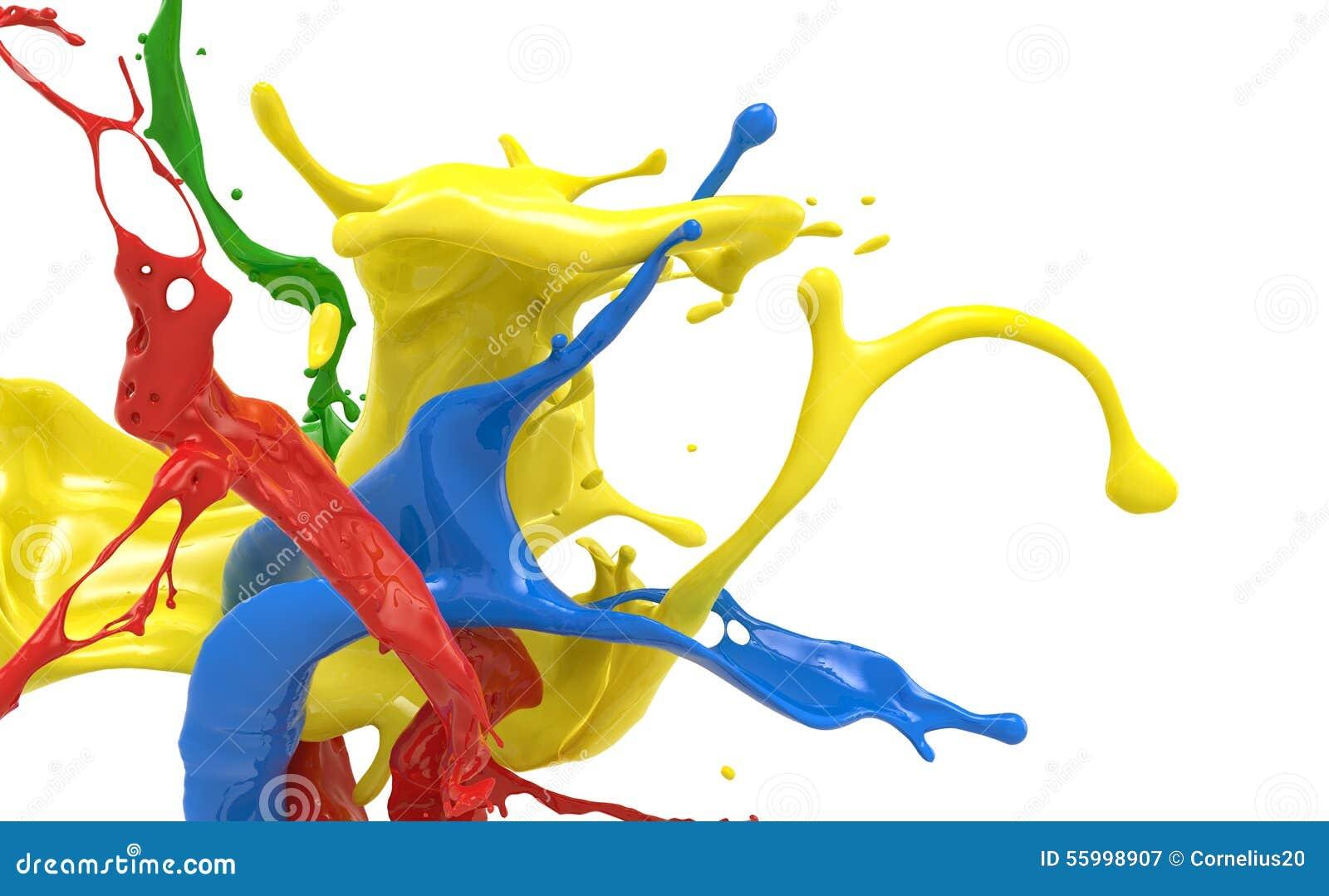 Spritzen von Farben