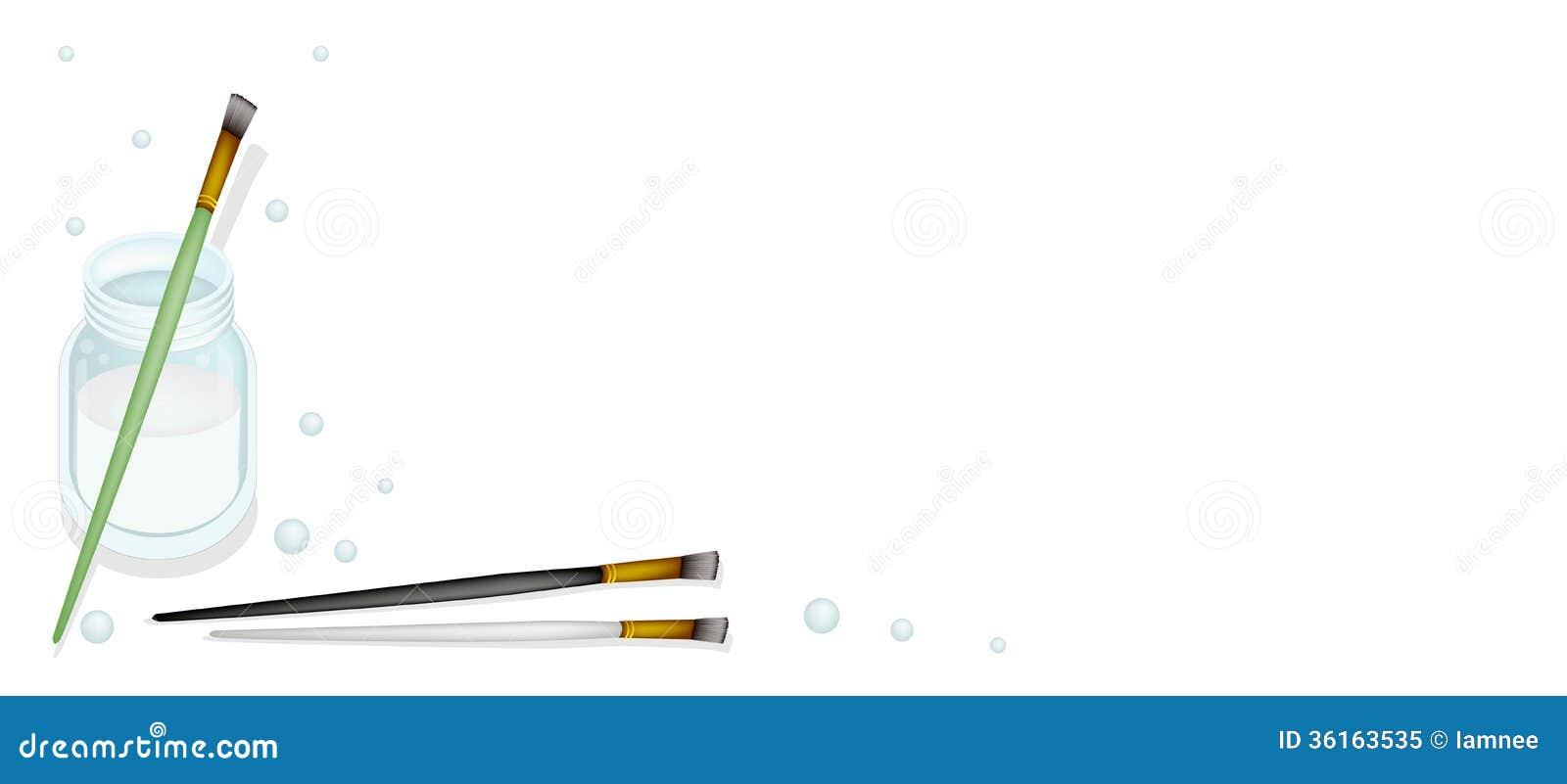 spritzpistole mit einem wasser-glas auf weißem hintergrund vektor