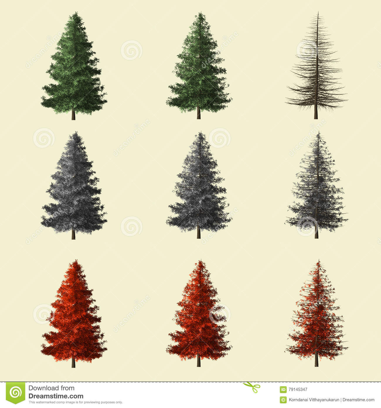 Spruce tree 3d rendering isolated for landscape designer stock image image of nature forest - Autumn plowing time all set for winter ...