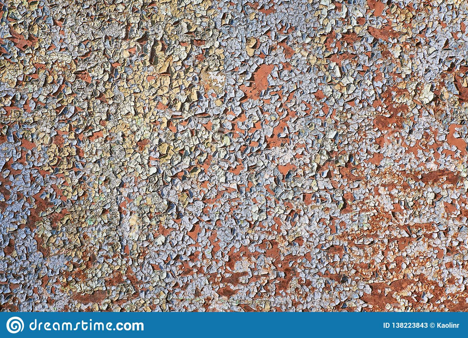 Sprucken målad vägg Gammal skalad målarfärgbakgrund