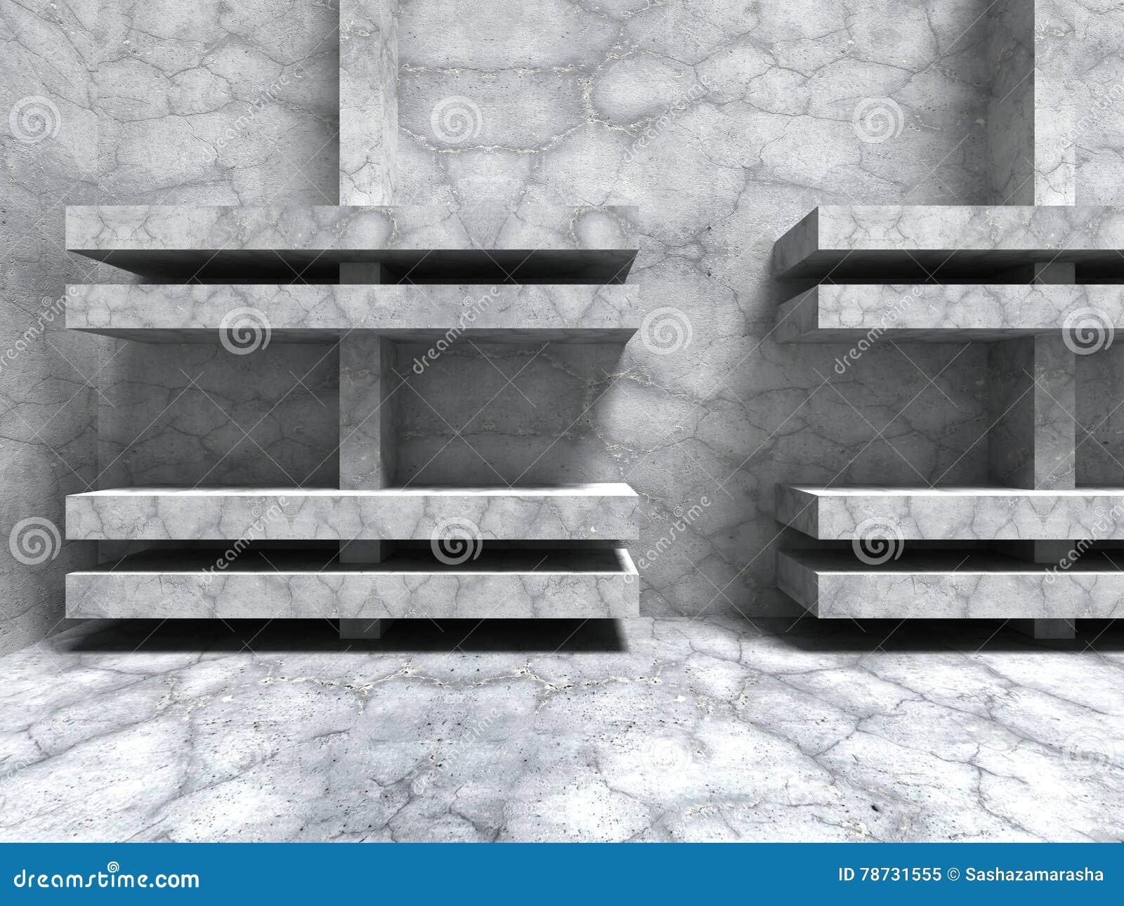 Sprucken väggbakgrund för abstrakt konkret arkitektur