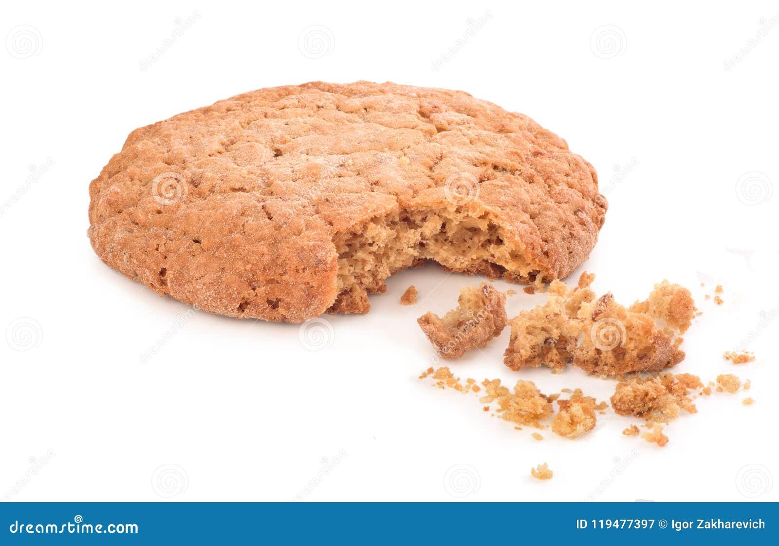 Spruckna kakor på vit bakgrund