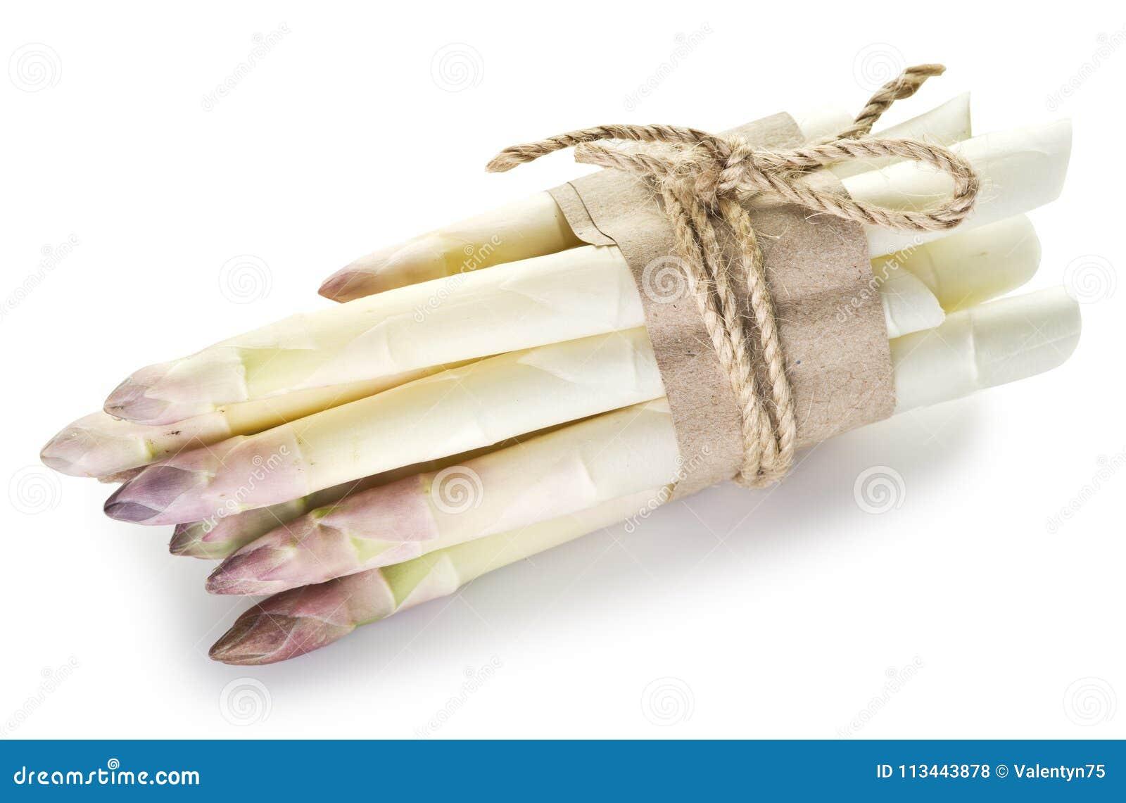 Spruiten van witte asperge