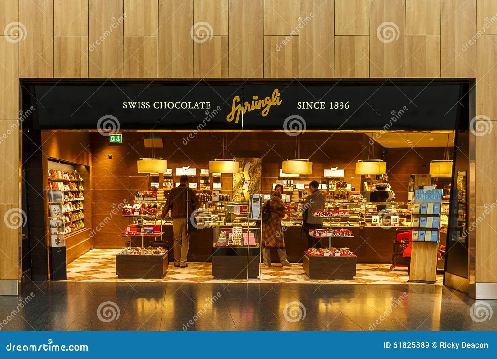 Sprungli Chocolate Store Editorial Stock Image Image