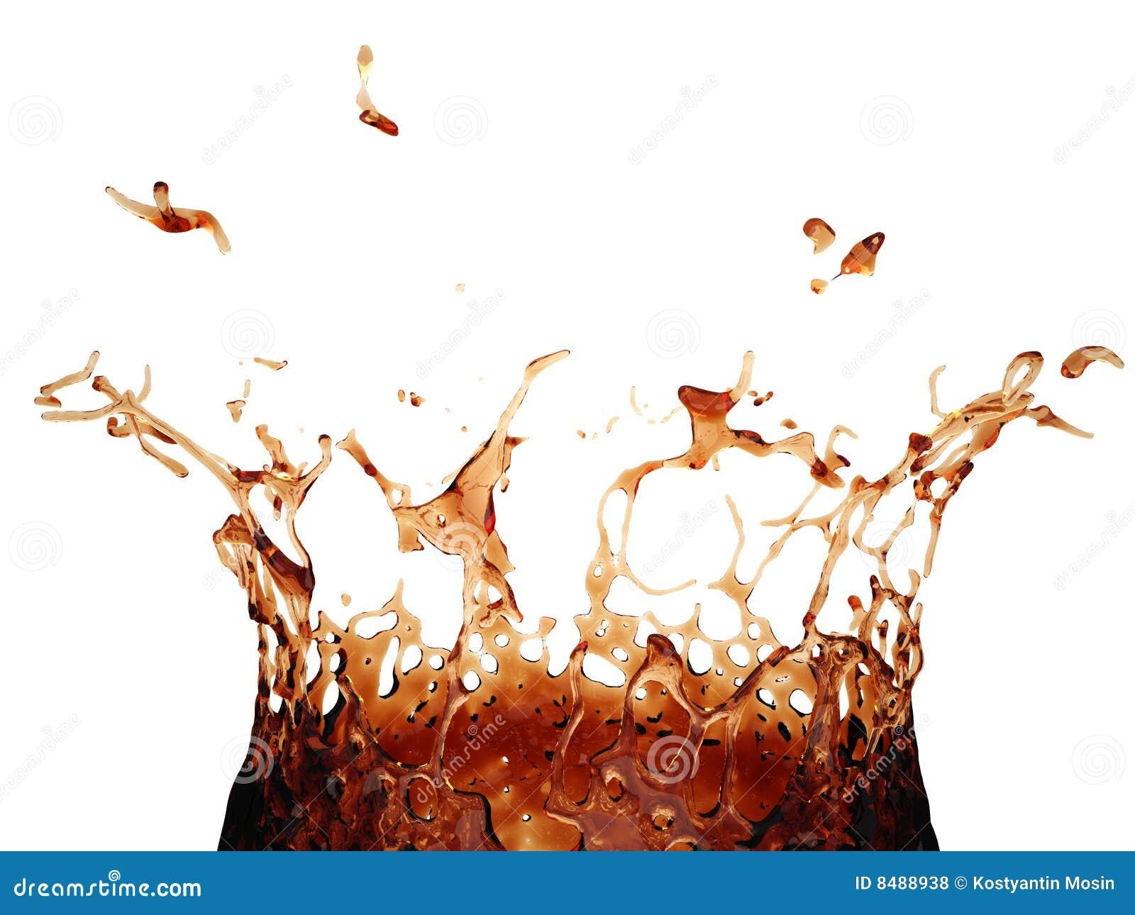 Spruzzata della coca-cola 3d