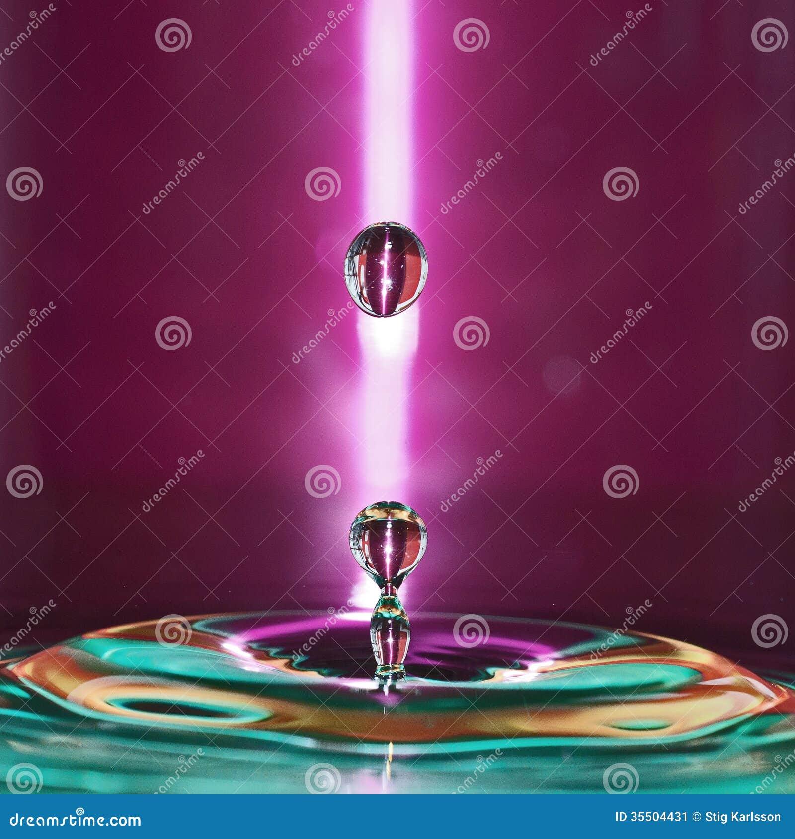 Spruzzata 1 delle goccioline di acqua
