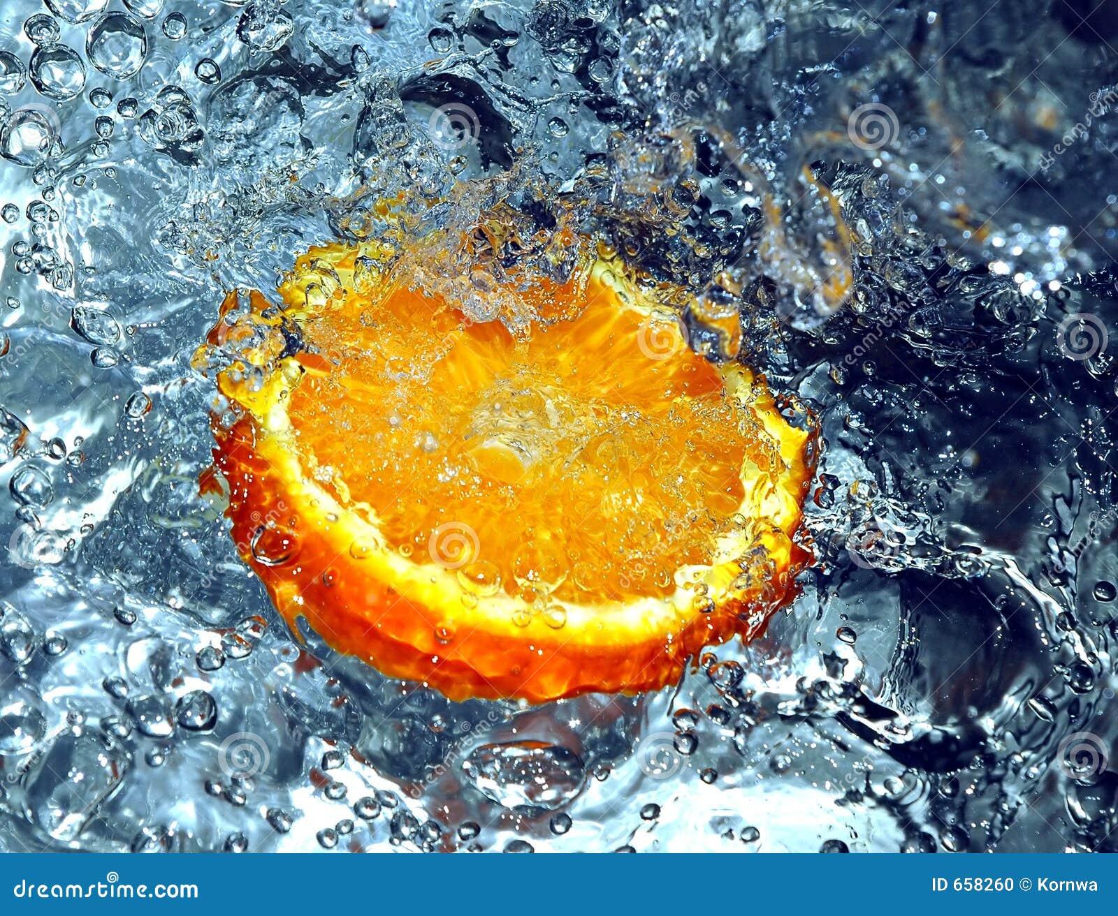 Spruzzatura dell arancio