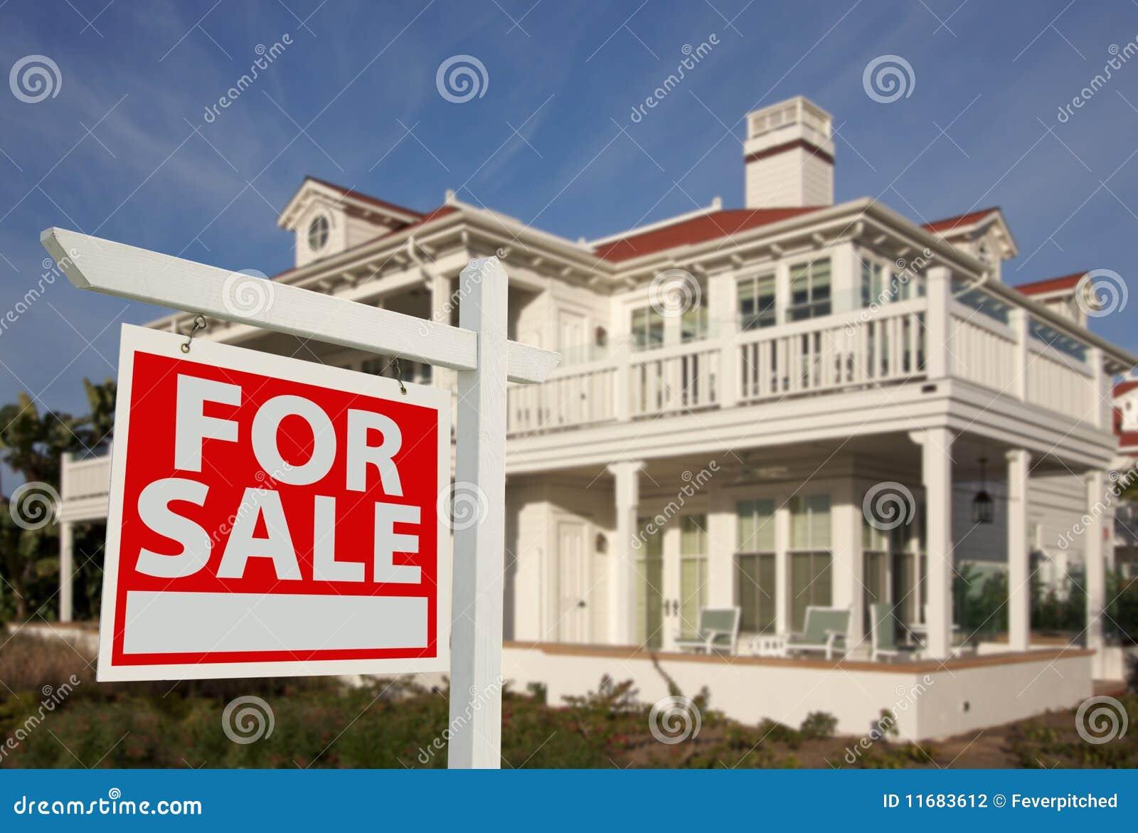 Sprzedaż domowy nowy znak