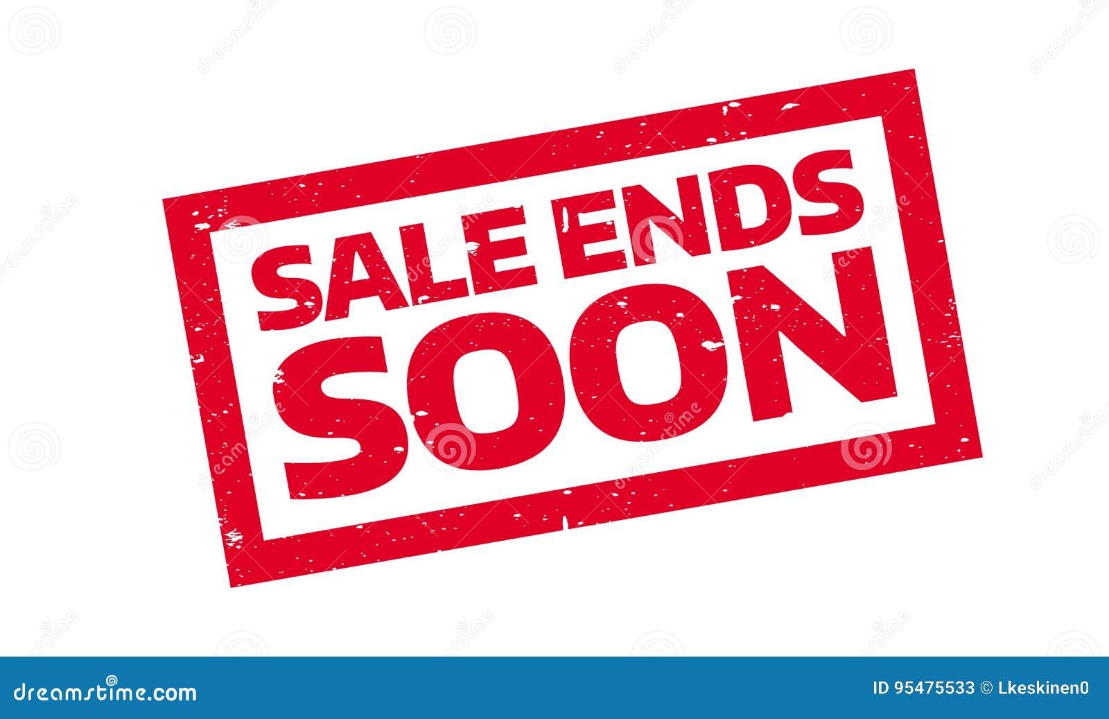 Sprzedaż Kończy Wkrótce pieczątkę