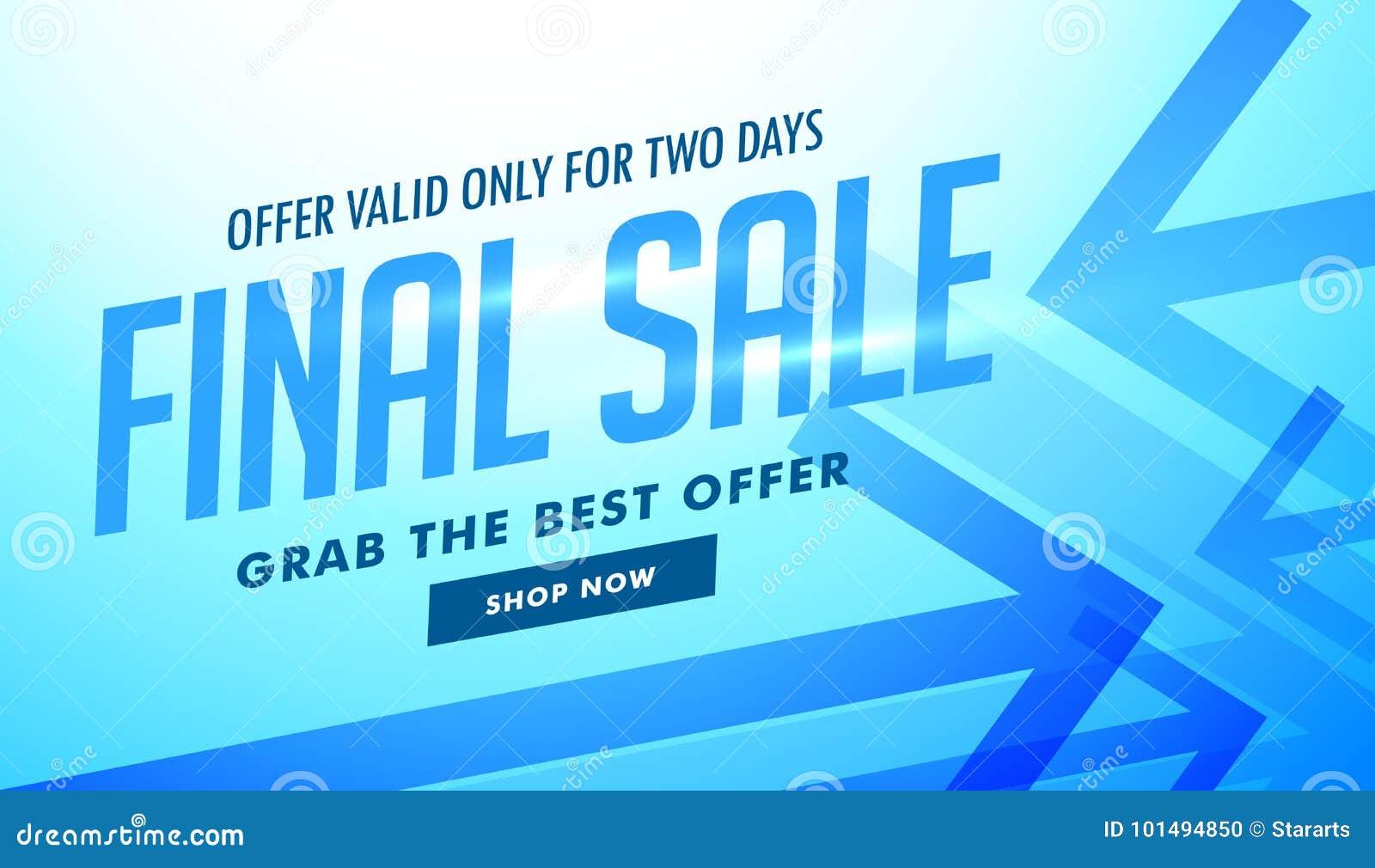 Sprzedaż reklamowy sztandar z błękitnymi strzała dla reklamować