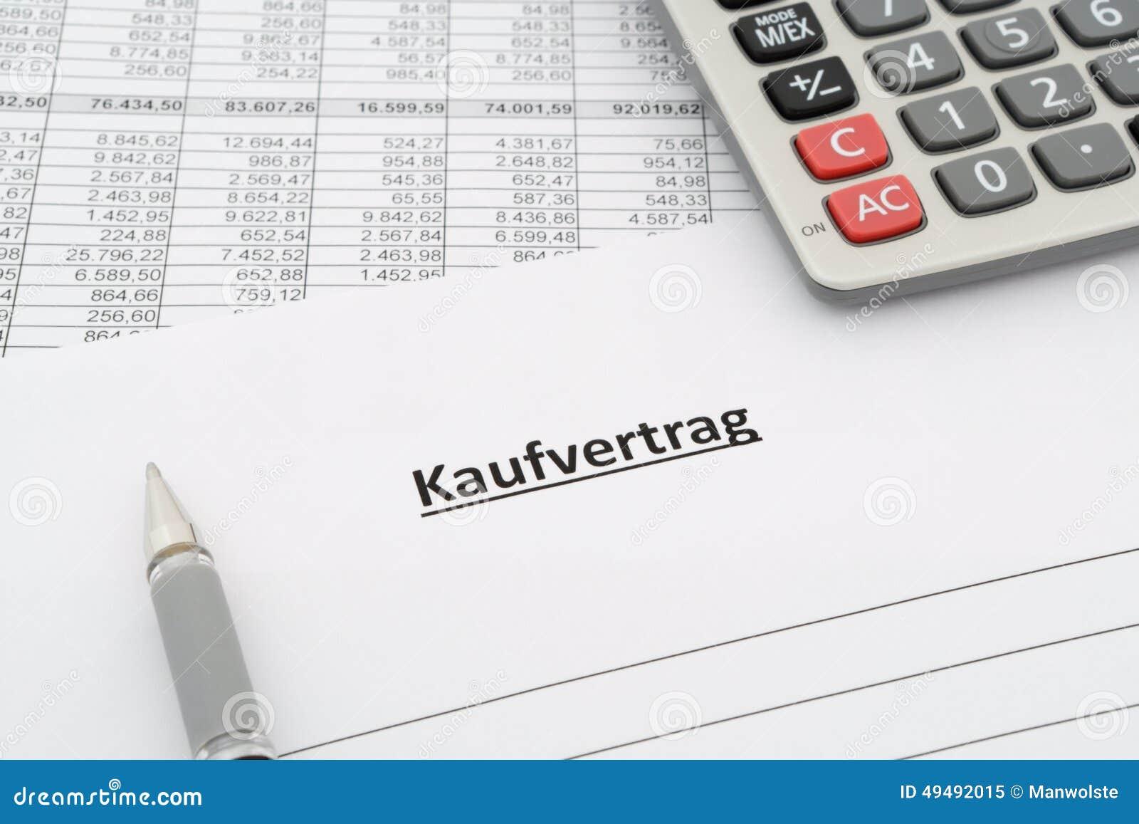 Sprzedaży zgoda w niemiec - Kaufvertrag -