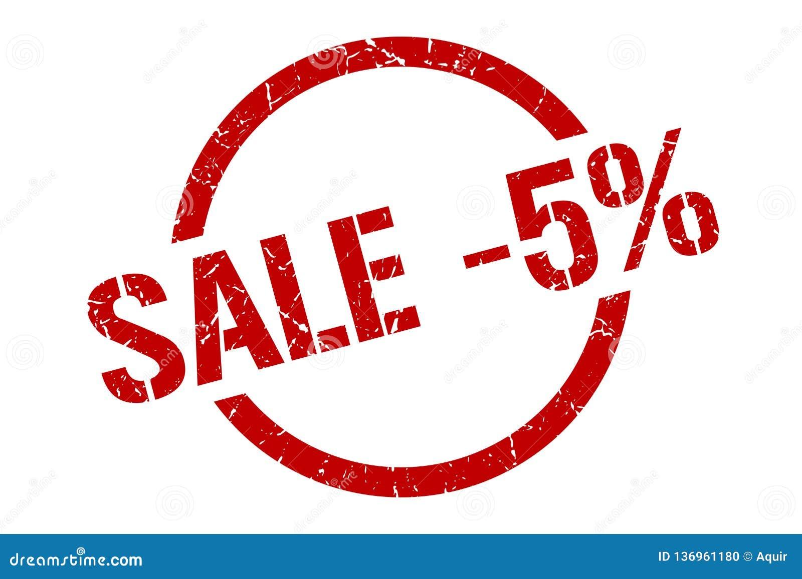Sprzedaży -5  znaczek
