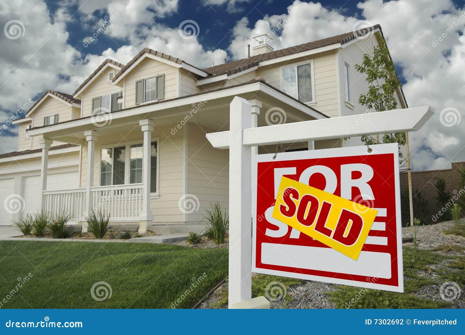 Sprzedający sprzedaż domowy znak