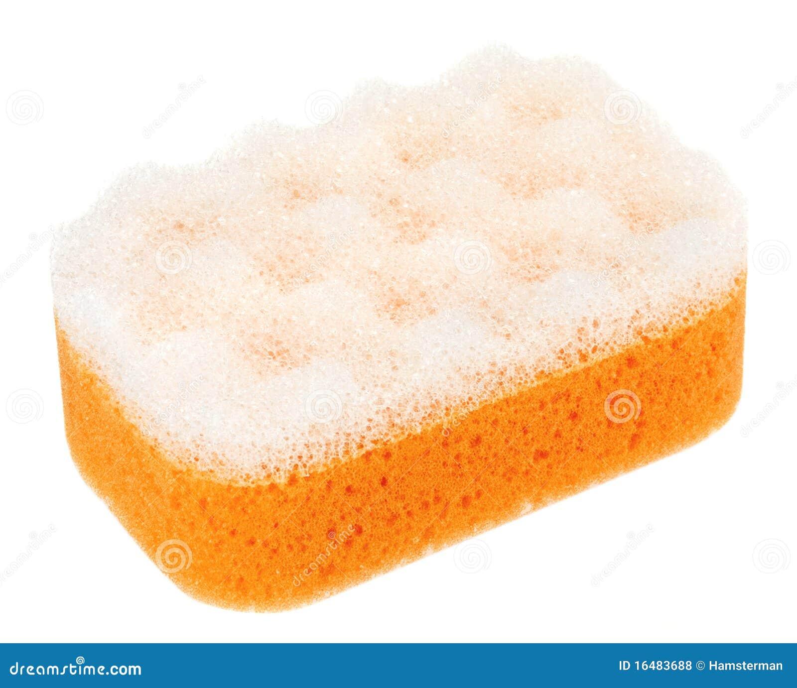 Spugna Ovale Arancione Del Bagno Fotografia Stock - Immagine di ...