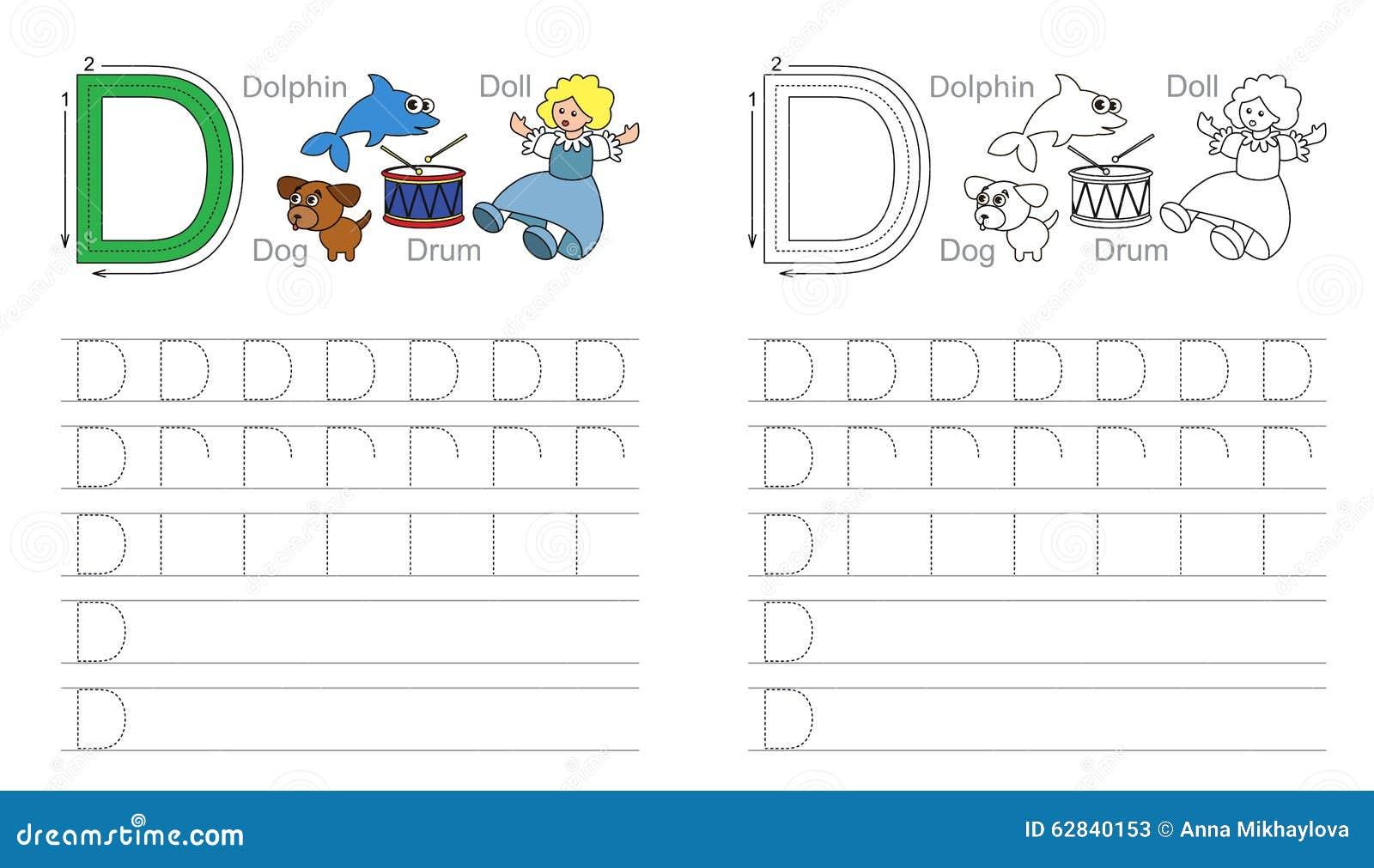 Buchstabe C Lernen Sie Handschrift Vektor Abbildung - Illustration ...