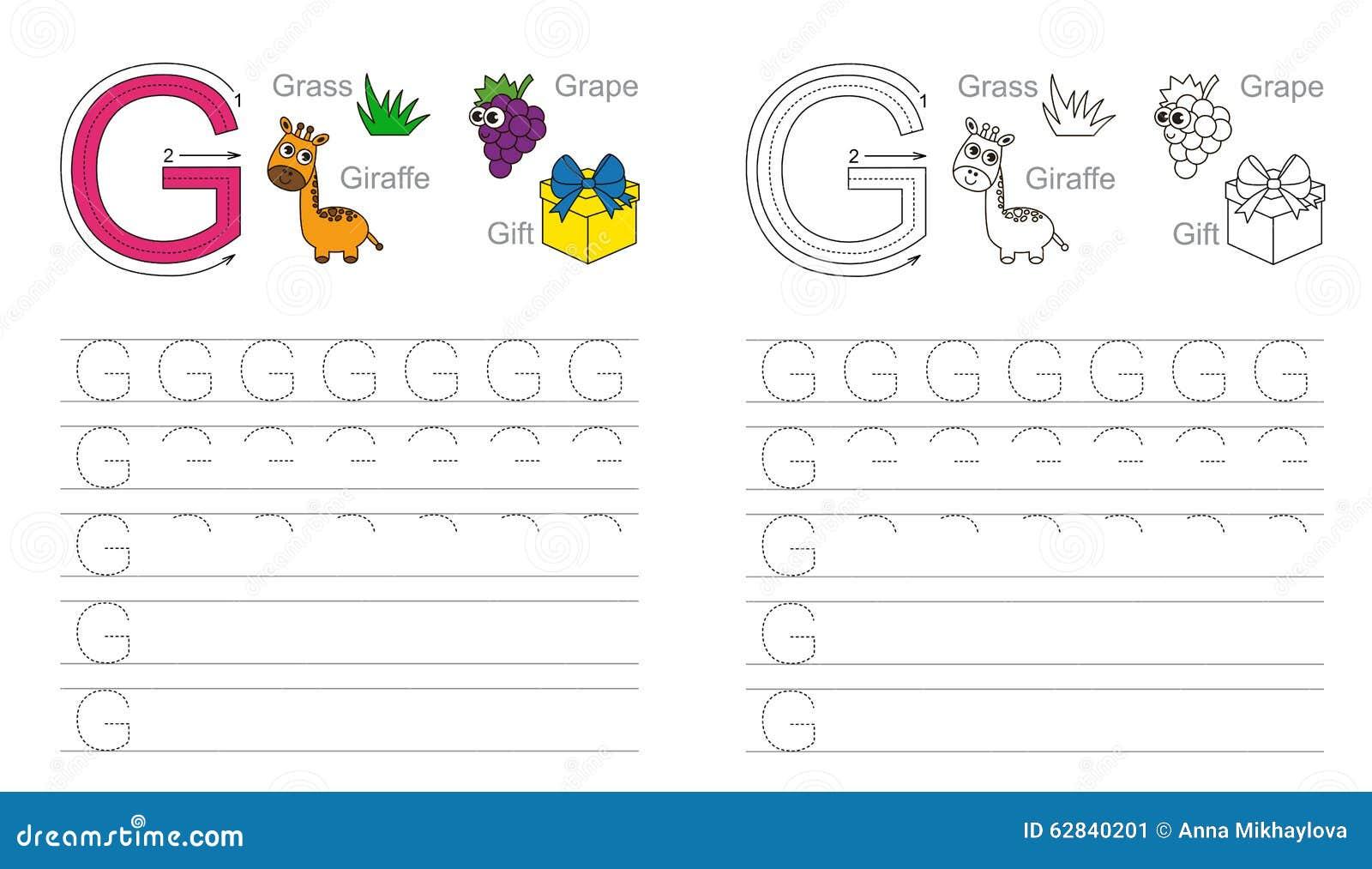 Beste Buchstaben G Arbeitsblatt Für Kindergärten Fotos - Super ...