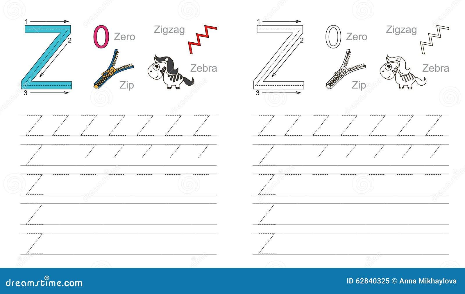 Spurarbeitsblatt Für Buchstaben Z Vektor Abbildung - Illustration ...