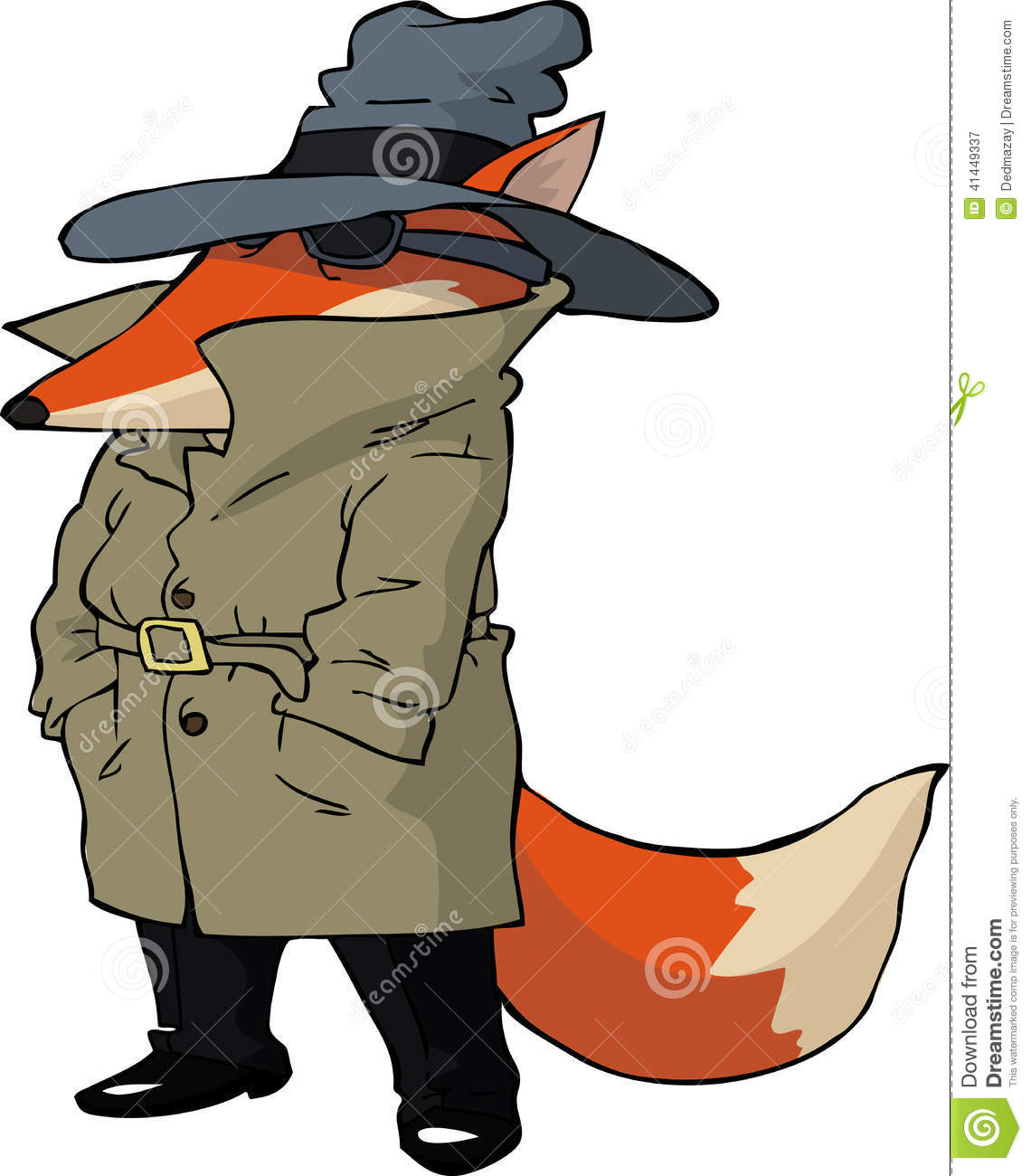 spy fox stock vector image 41449337